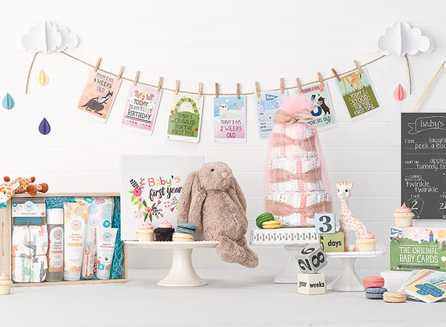 Baby shower gifts.