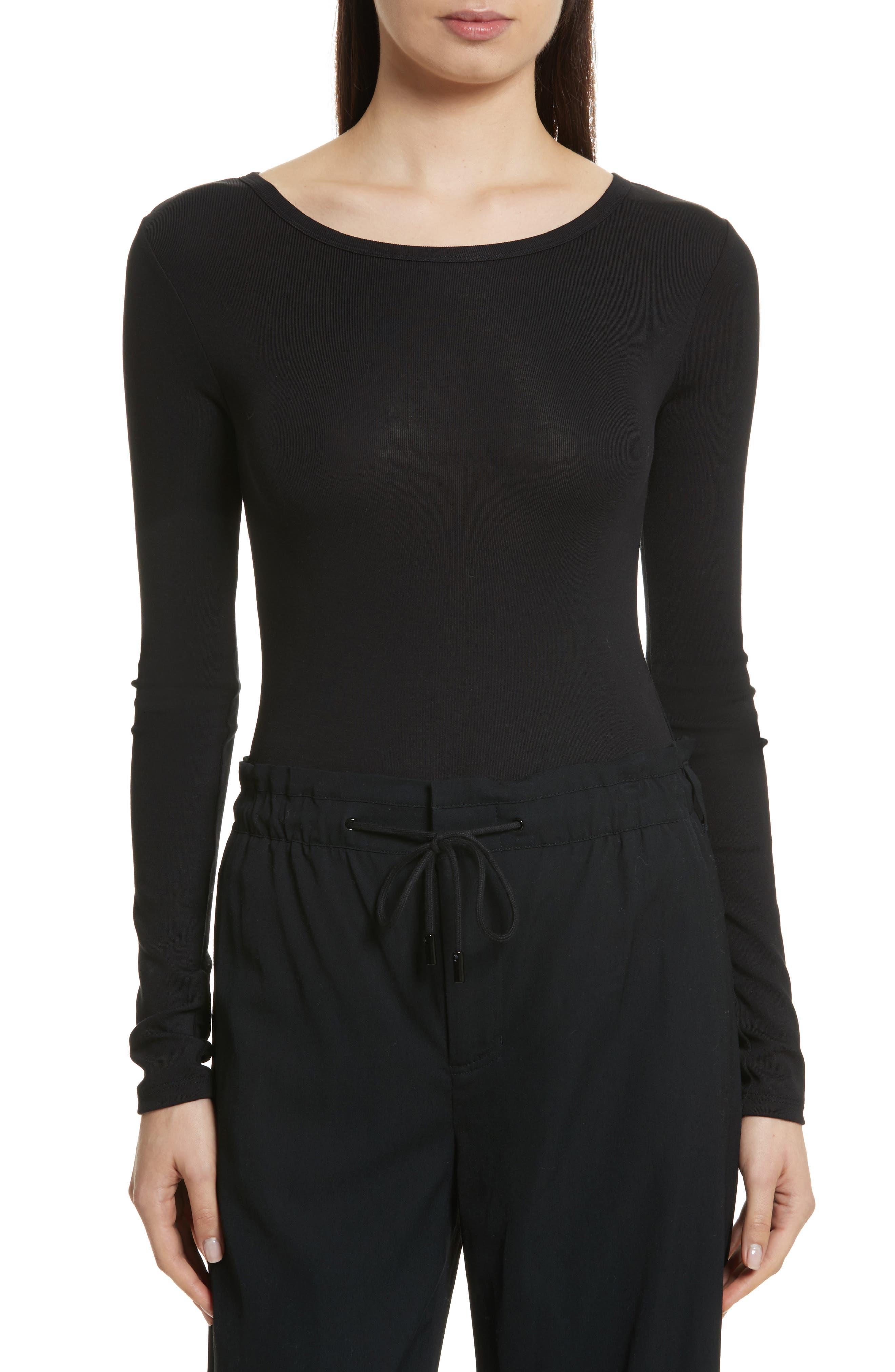Stretch Cotton Bodysuit,                         Main,                         color,