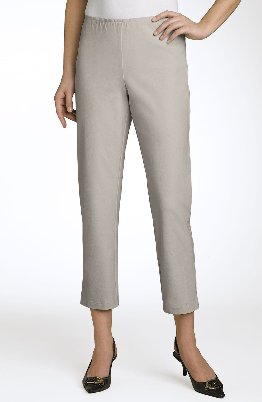 Organic Stretch Cotton Twill Ankle Pants,                             Alternate thumbnail 29, color,
