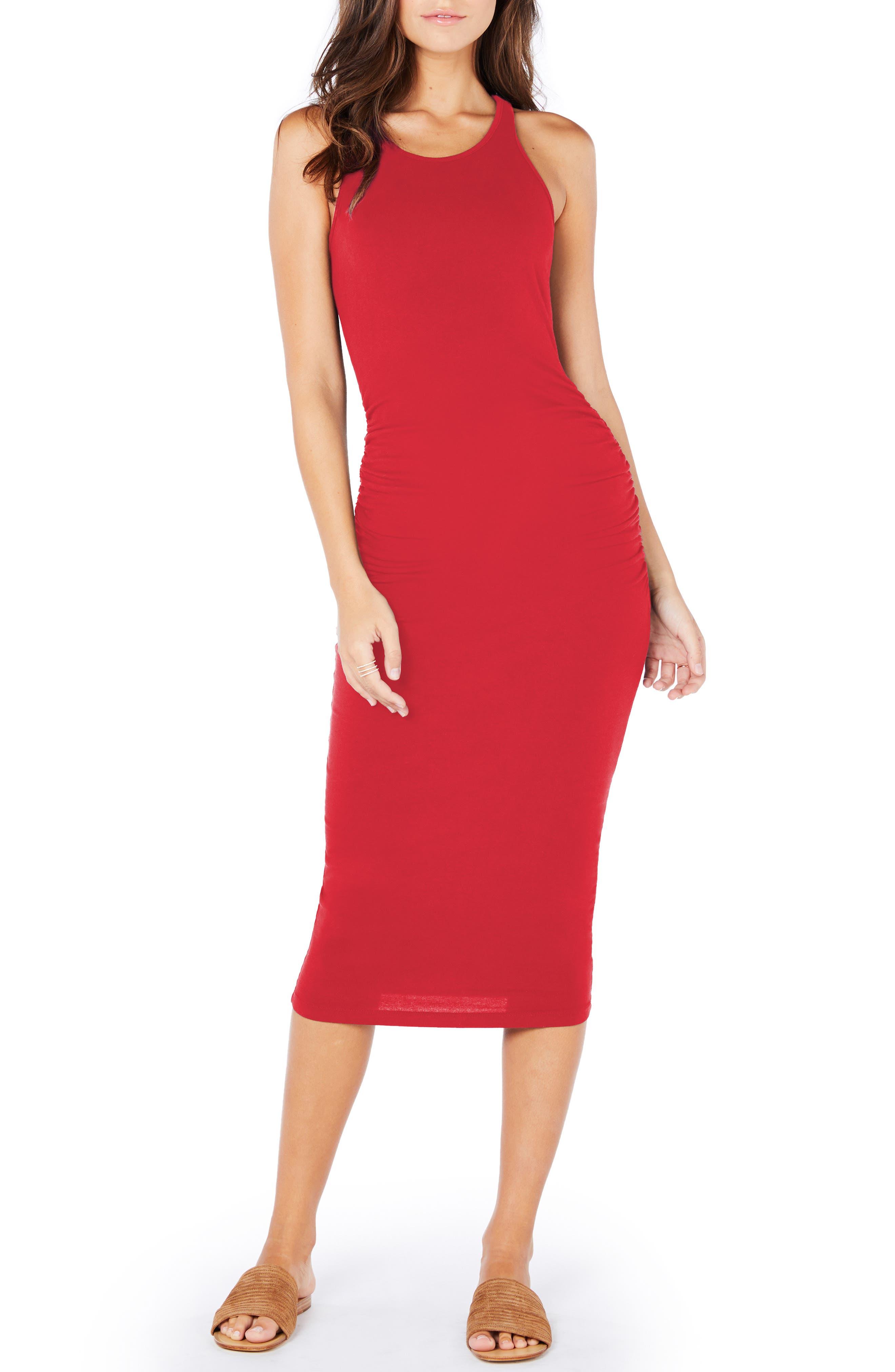 Michael Stars Racerback Midi Dress, Red