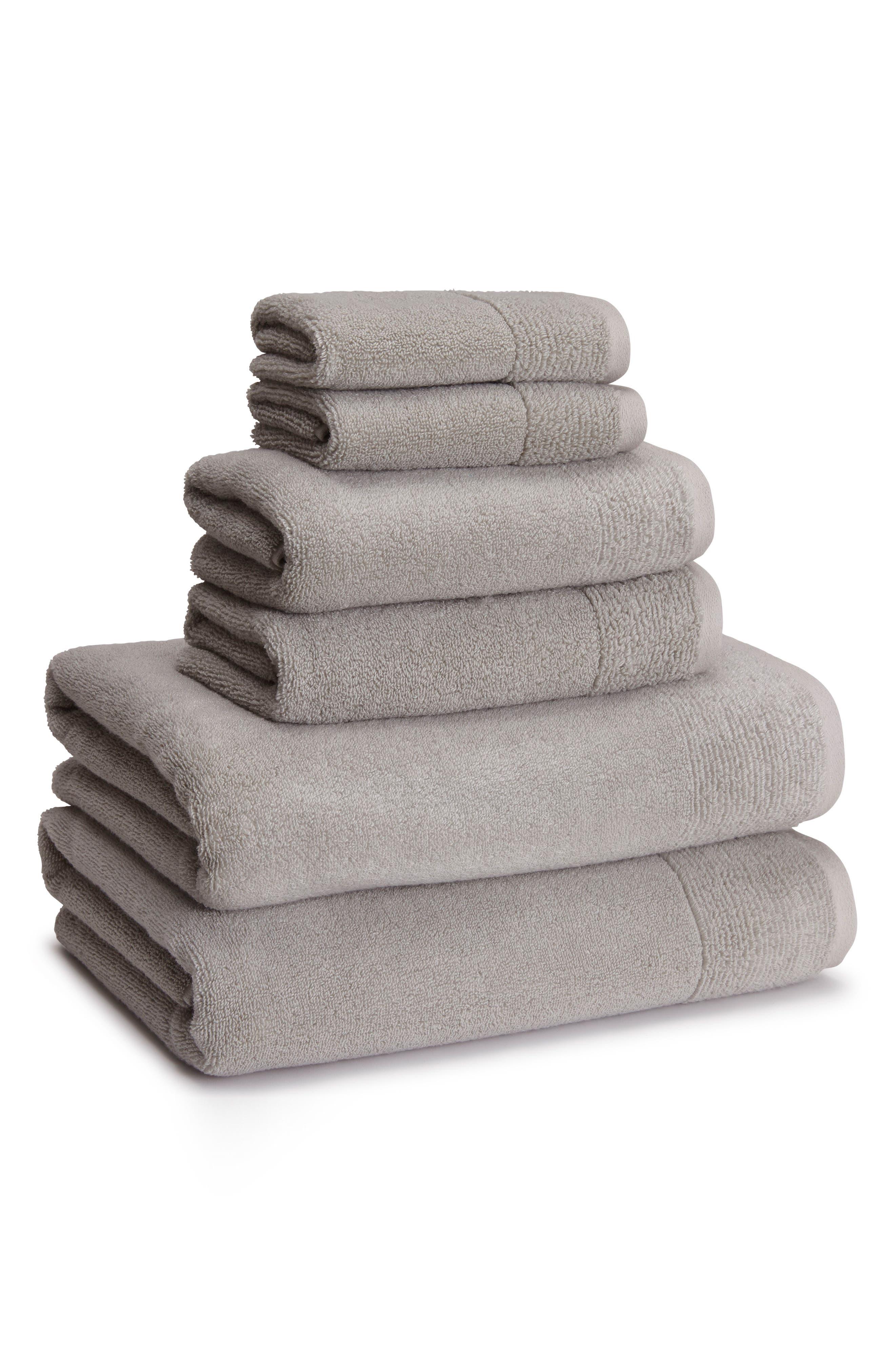 Kyoto Bath Towel,                         Main,                         color, DOLPHIN GREY