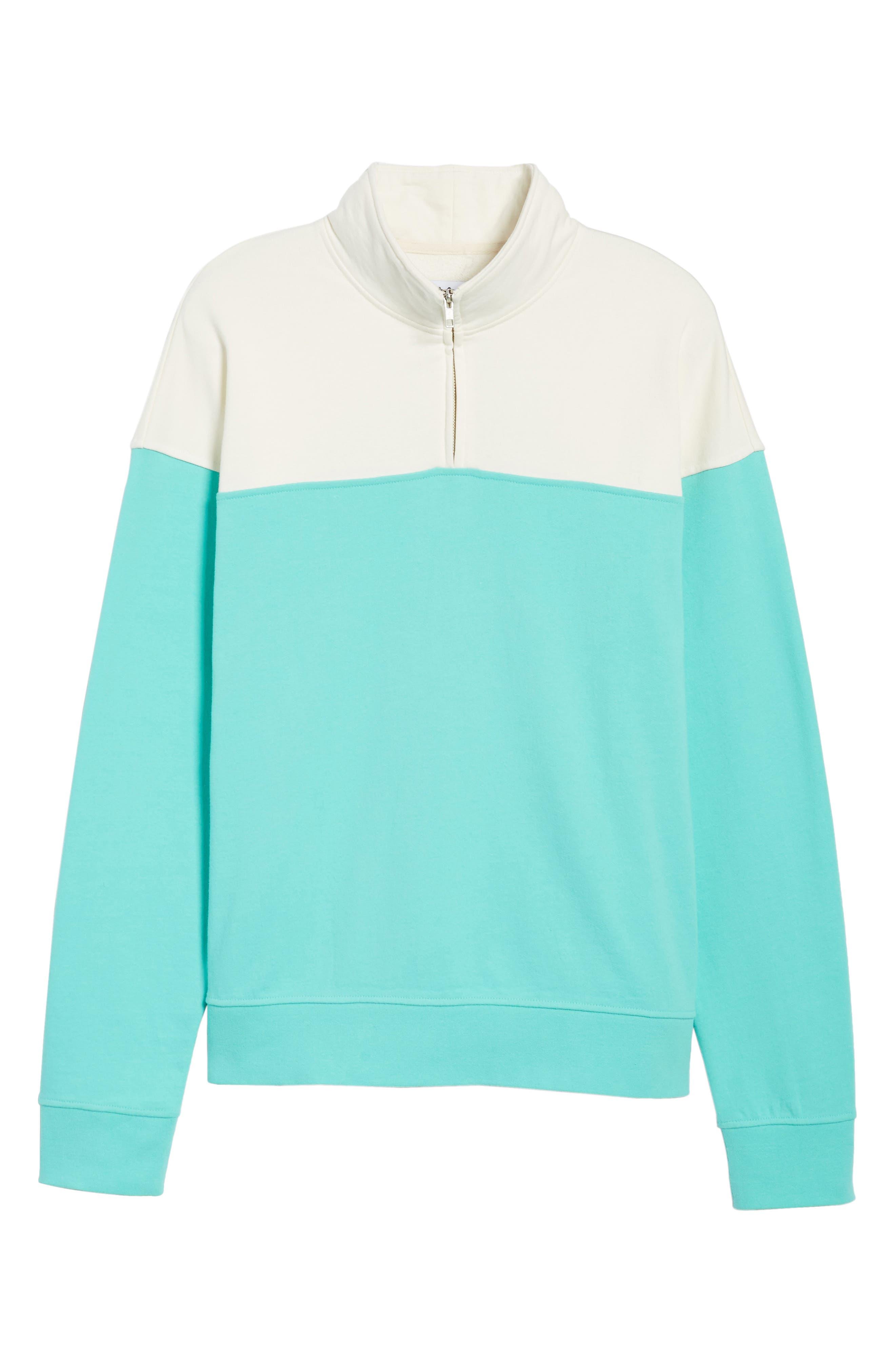 Colorblock Quarter Zip Sweatshirt,                             Alternate thumbnail 6, color,                             900