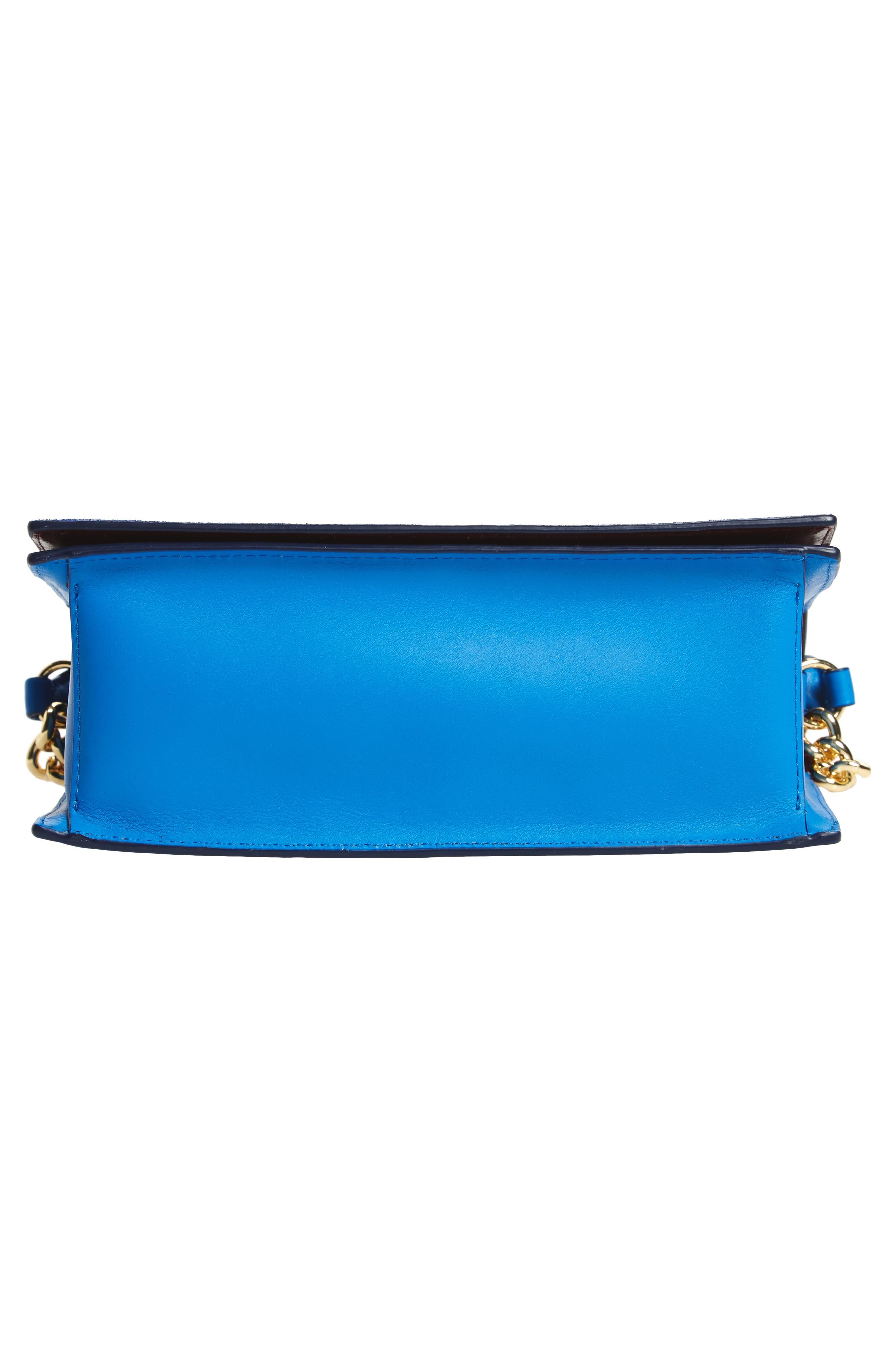 Bonne Soirée Leather & Suede Top Handle Bag,                             Alternate thumbnail 6, color,                             400