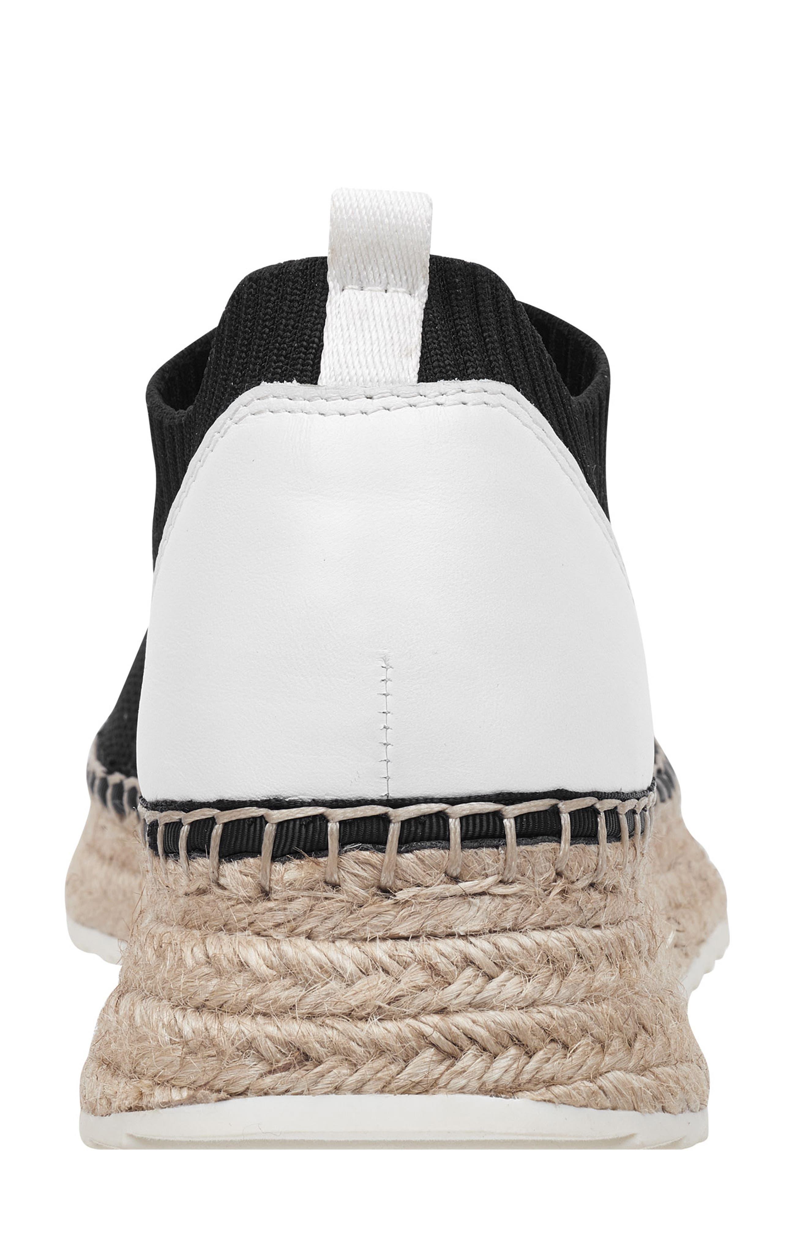 MARC FISHER LTD,                             Jilly Espadrille Sneaker,                             Alternate thumbnail 7, color,                             BLACK FABRIC