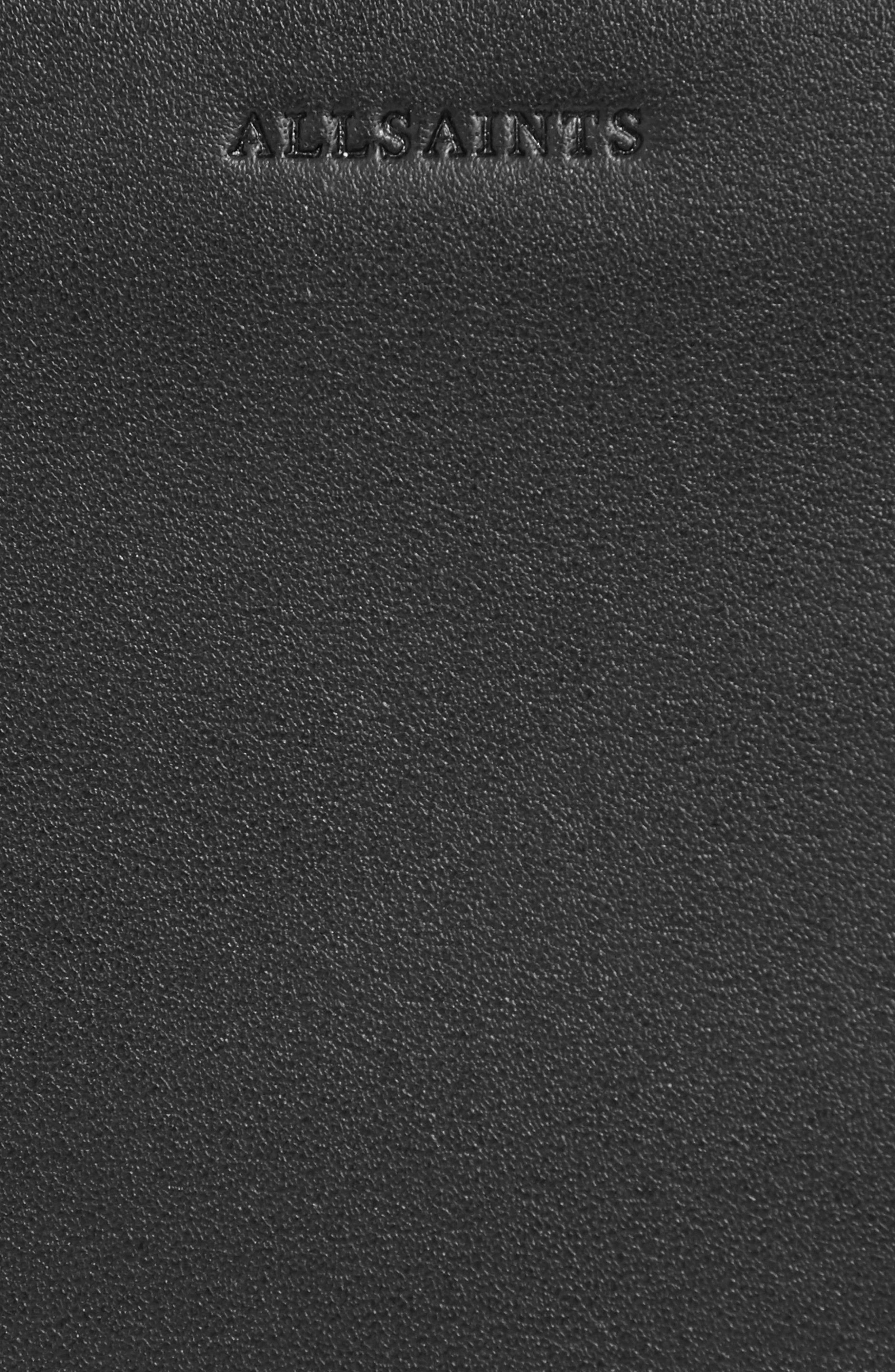 Vincent Genuine Calf Hair Shoulder Bag,                             Alternate thumbnail 6, color,                             LEOPARD/ BLACK