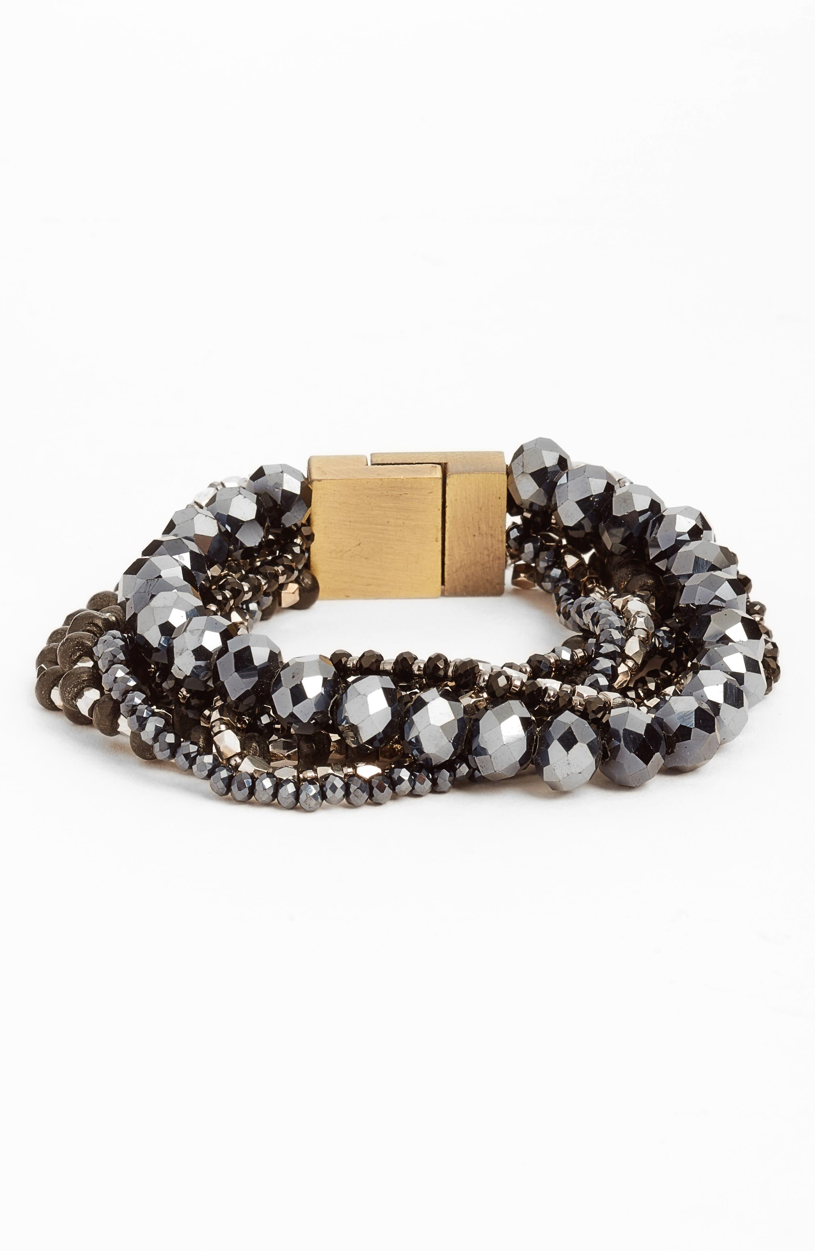 Layered Statement Bracelet,                         Main,                         color, 001