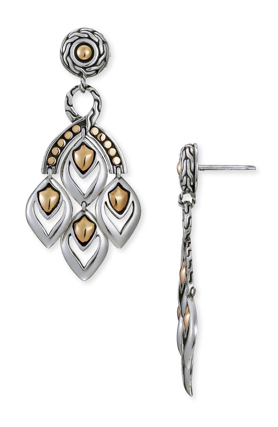 'Naga' Mini Chandelier Earrings,                             Main thumbnail 1, color,                             SILVER / GOLD