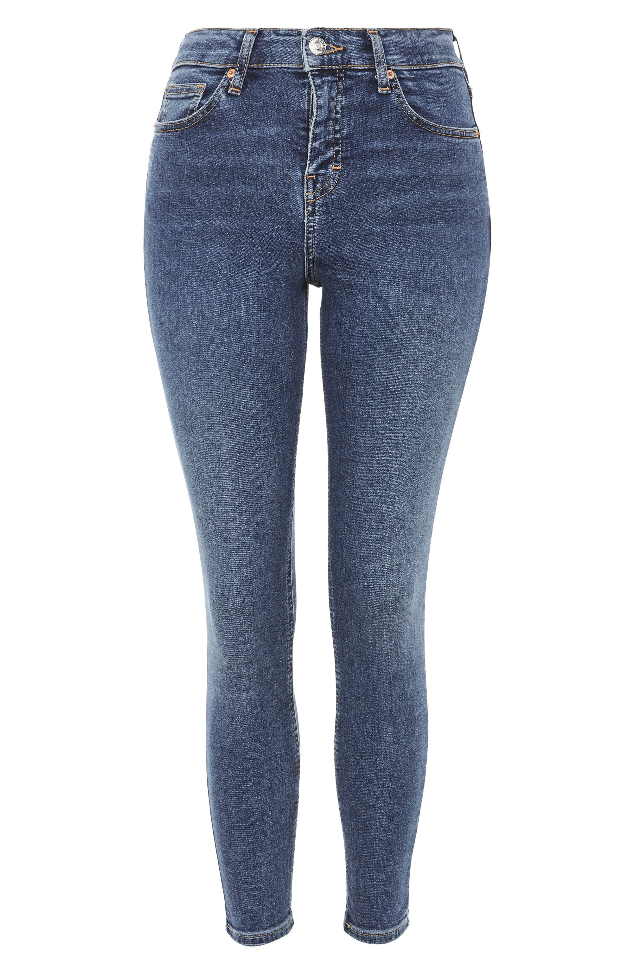 TOPSHOP,                             Jamie Petite Jeans,                             Alternate thumbnail 3, color,                             INDIGO