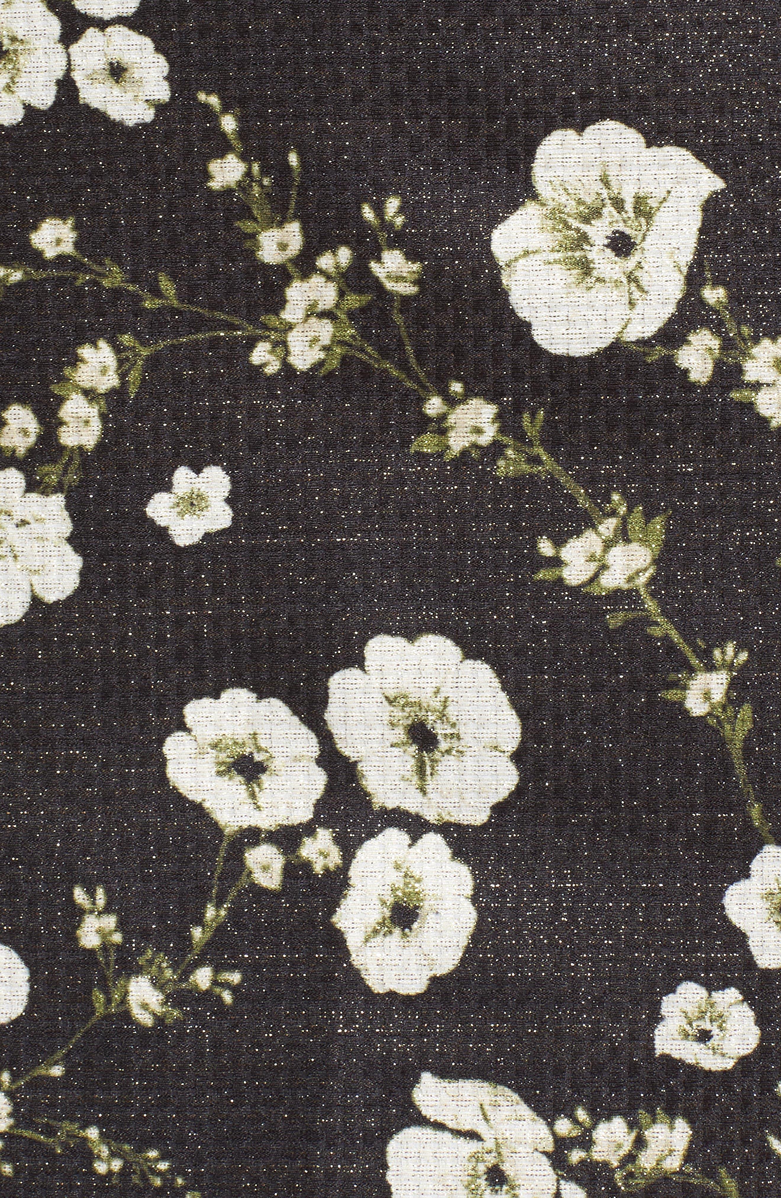 Metallic Off the Shoulder Sheath Dress,                             Alternate thumbnail 5, color,                             009