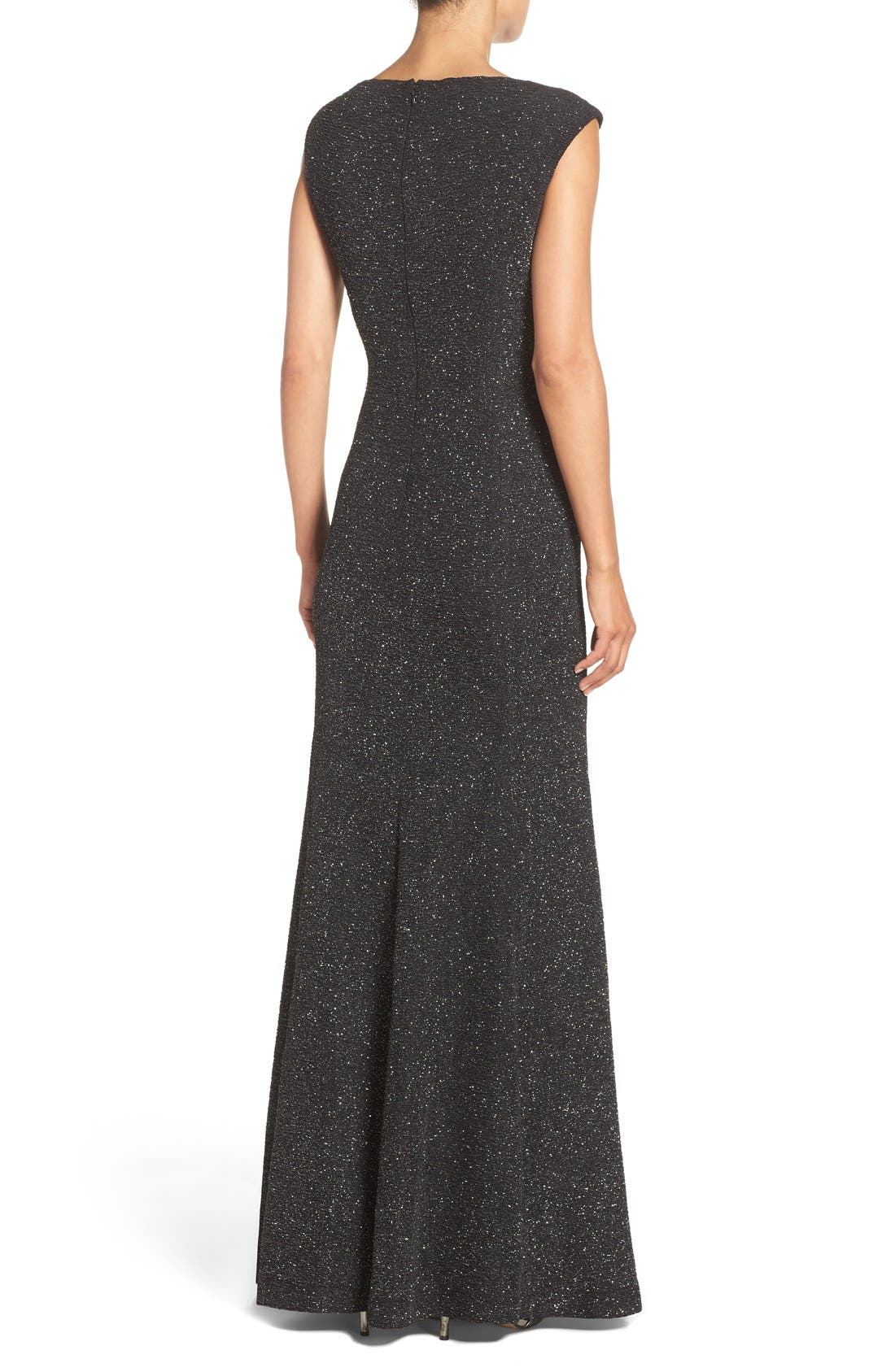 Glitter Knit Gown,                             Alternate thumbnail 2, color,                             046