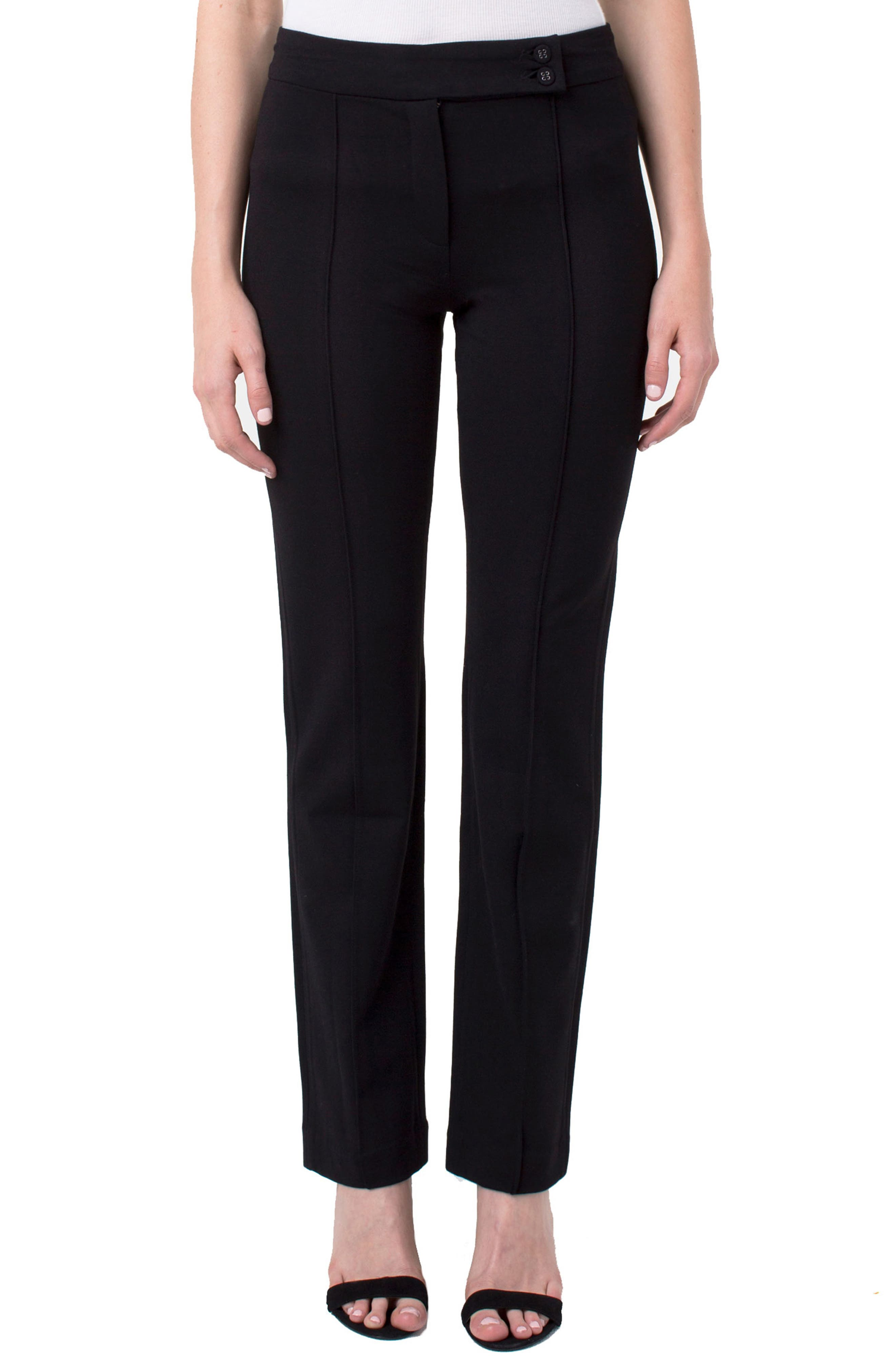 Ingrid Extended Tab Trousers, Main, color, BLACK