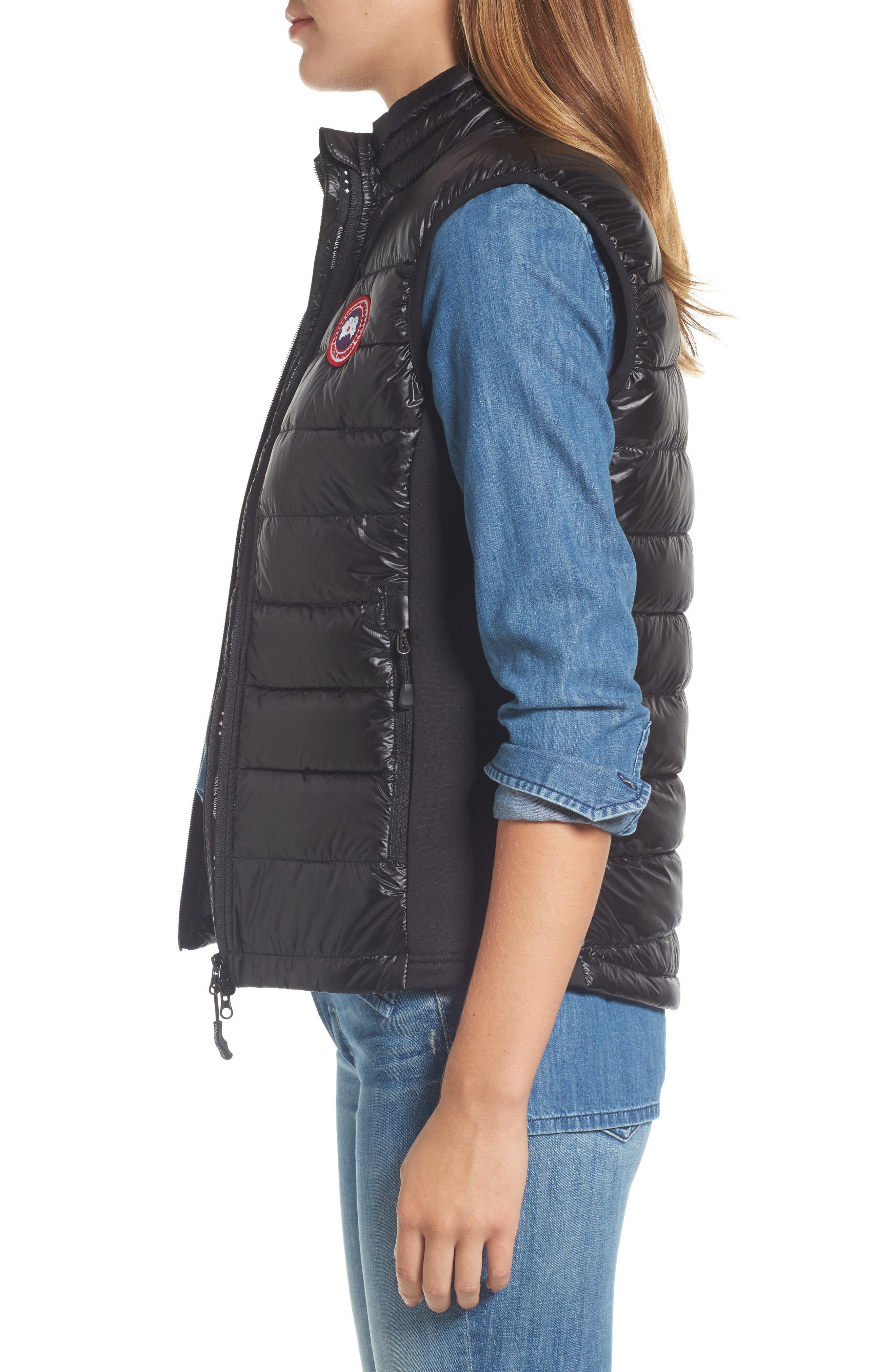 'Hybridge Lite' Slim Fit Packable Down Vest,                             Alternate thumbnail 3, color,                             BLACK/ GRAPHITE