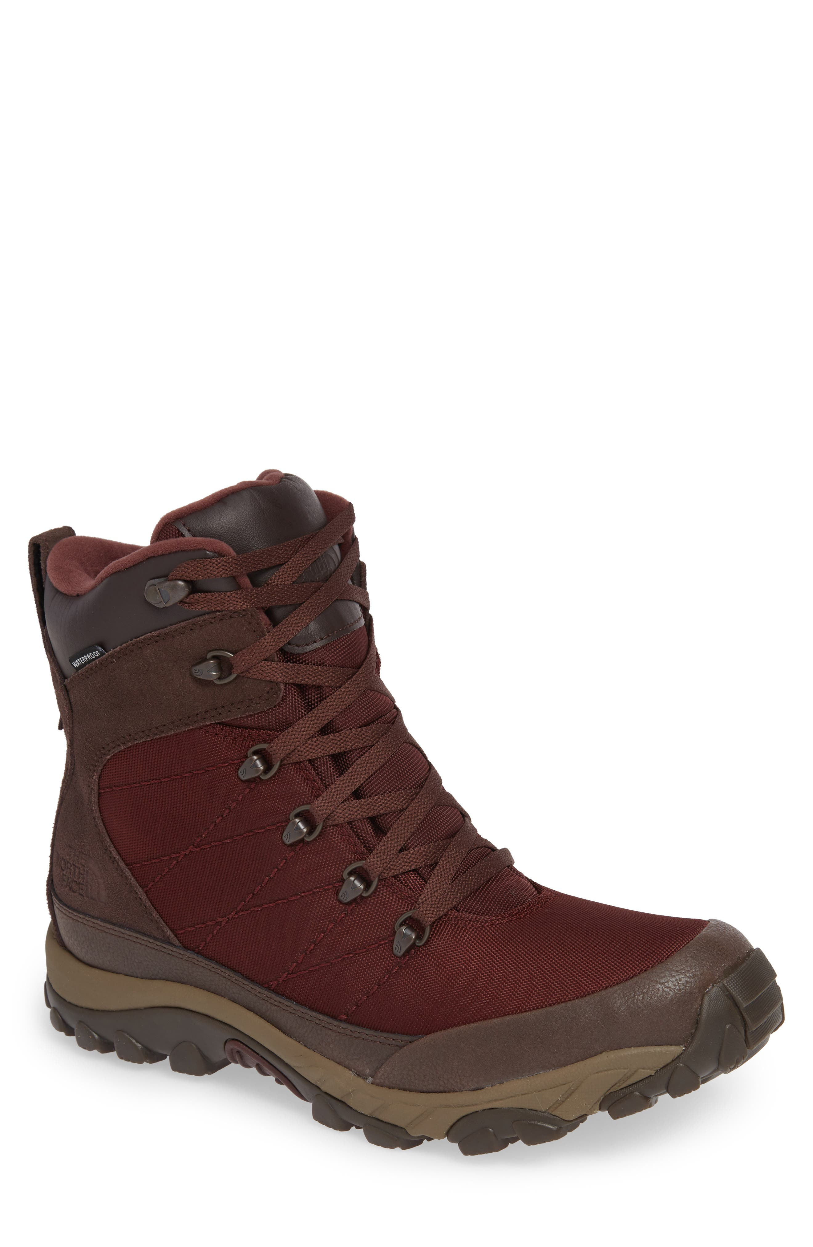 Chilkat Snow Waterproof Boot,                         Main,                         color, BITTER CHOCOLATE BROWN