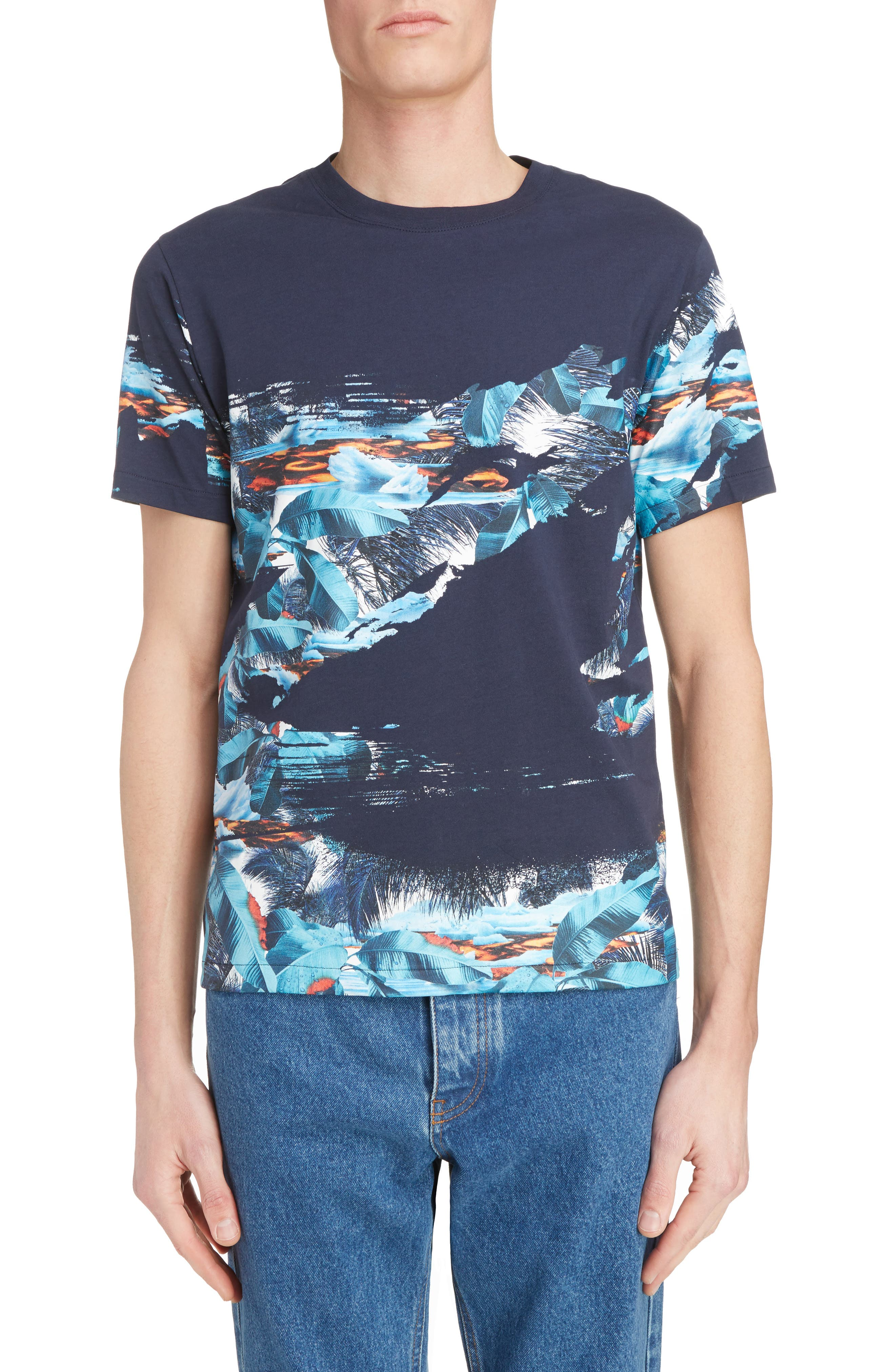 Abstract Landscape T-Shirt,                         Main,                         color, 452