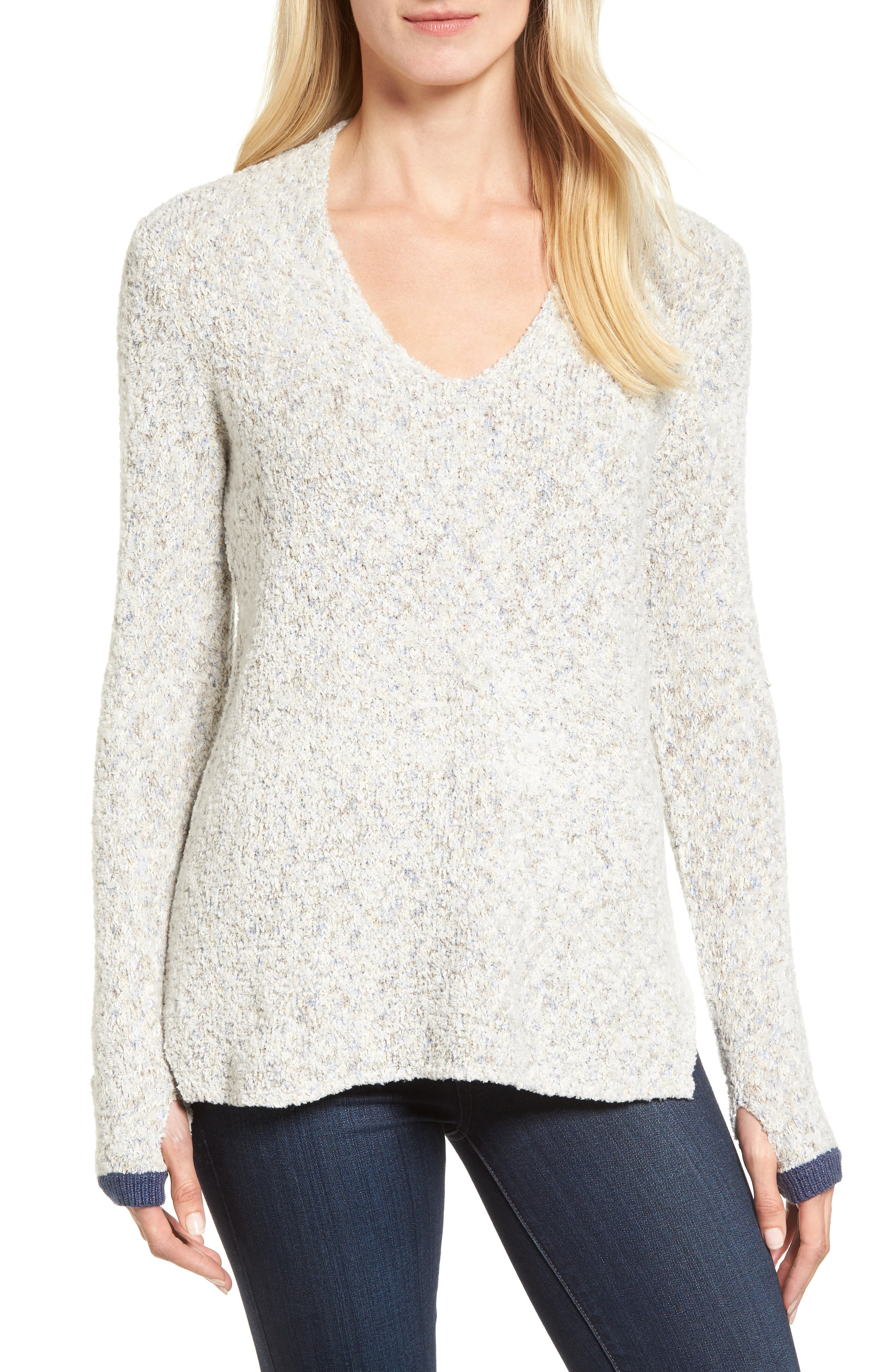 Marled Montreal Sweater,                             Main thumbnail 1, color,                             099