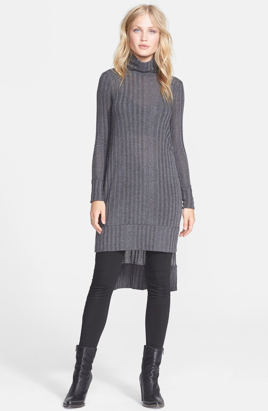 'Espresso' Long Turtleneck Sweater,                             Main thumbnail 1, color,                             035