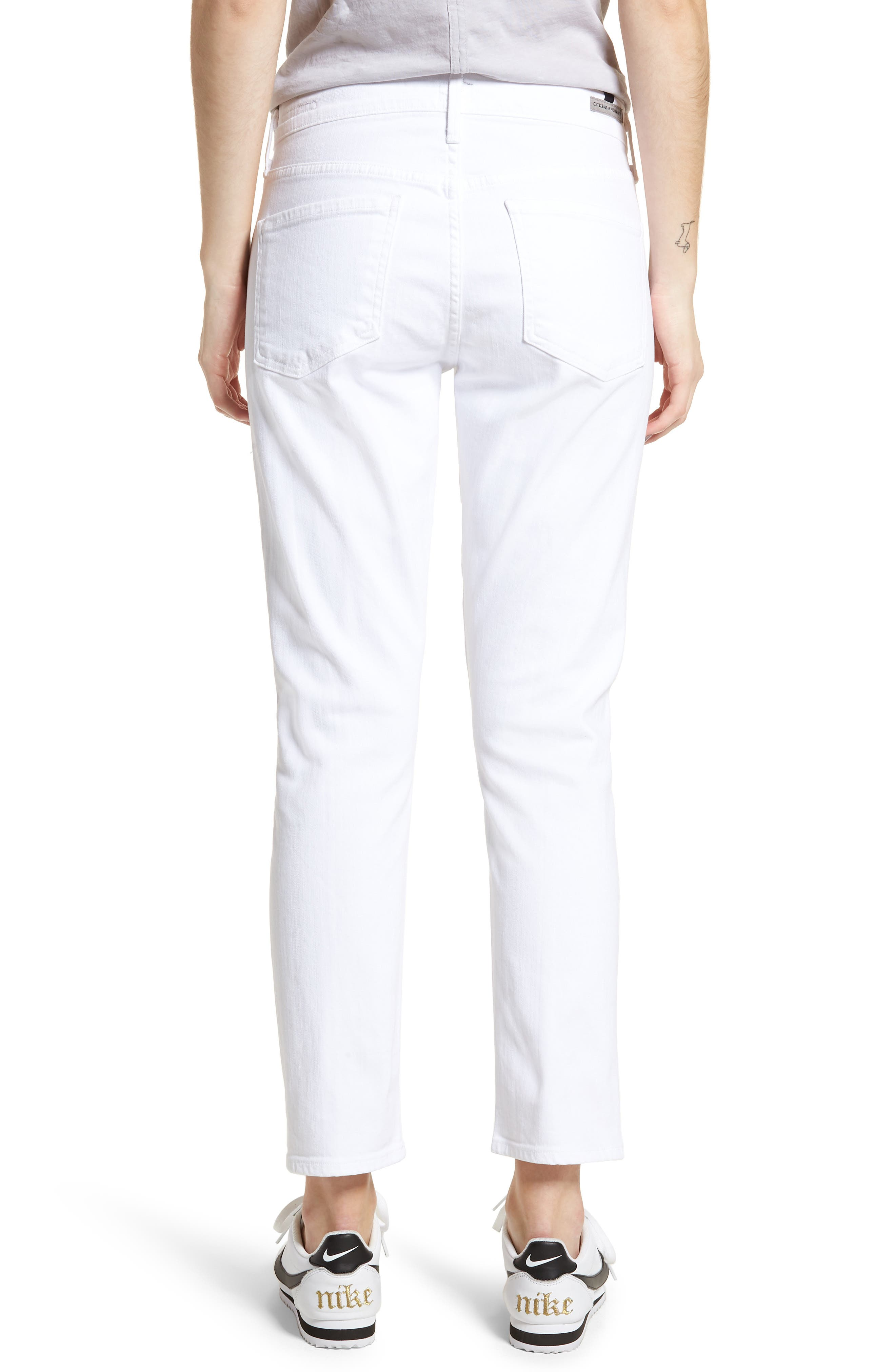 Elsa Ankle Skinny Jeans,                             Alternate thumbnail 2, color,                             OPTIC WHITE