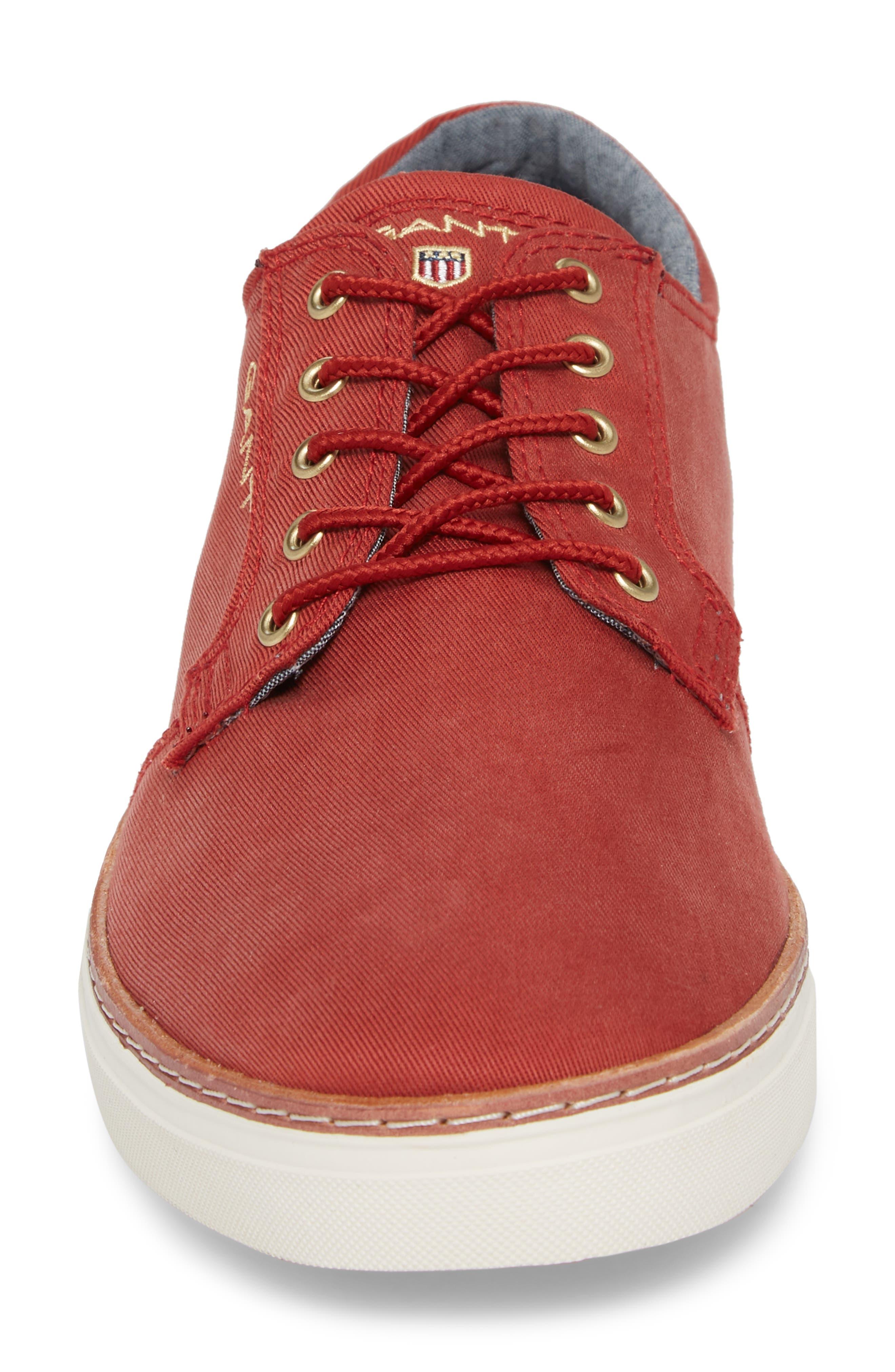 Bari Sneaker,                             Alternate thumbnail 4, color,                             RED TWILL