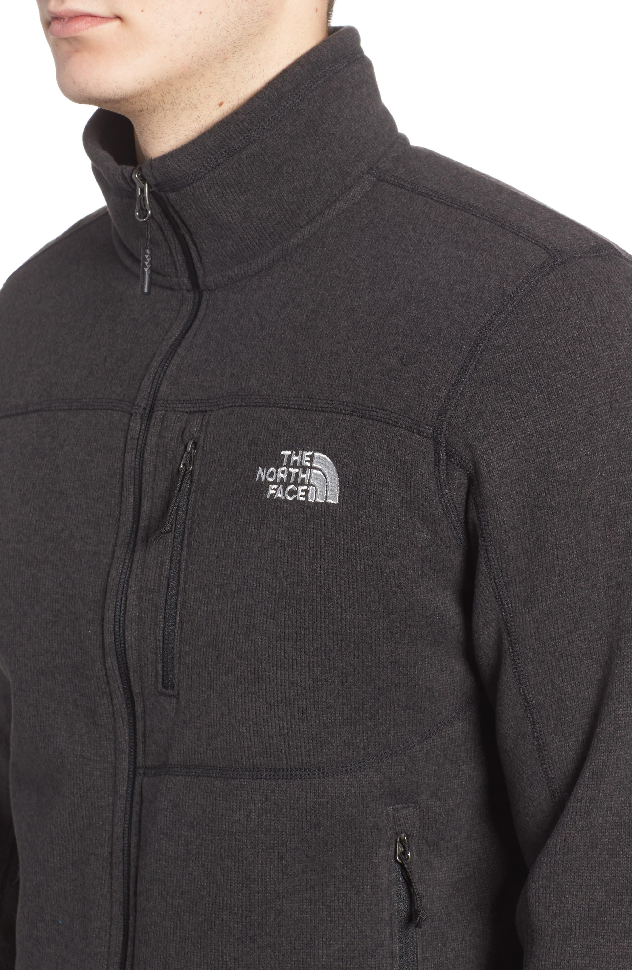'Gordon Lyons' Zip Fleece Jacket,                             Alternate thumbnail 4, color,                             BLACK HEATHER