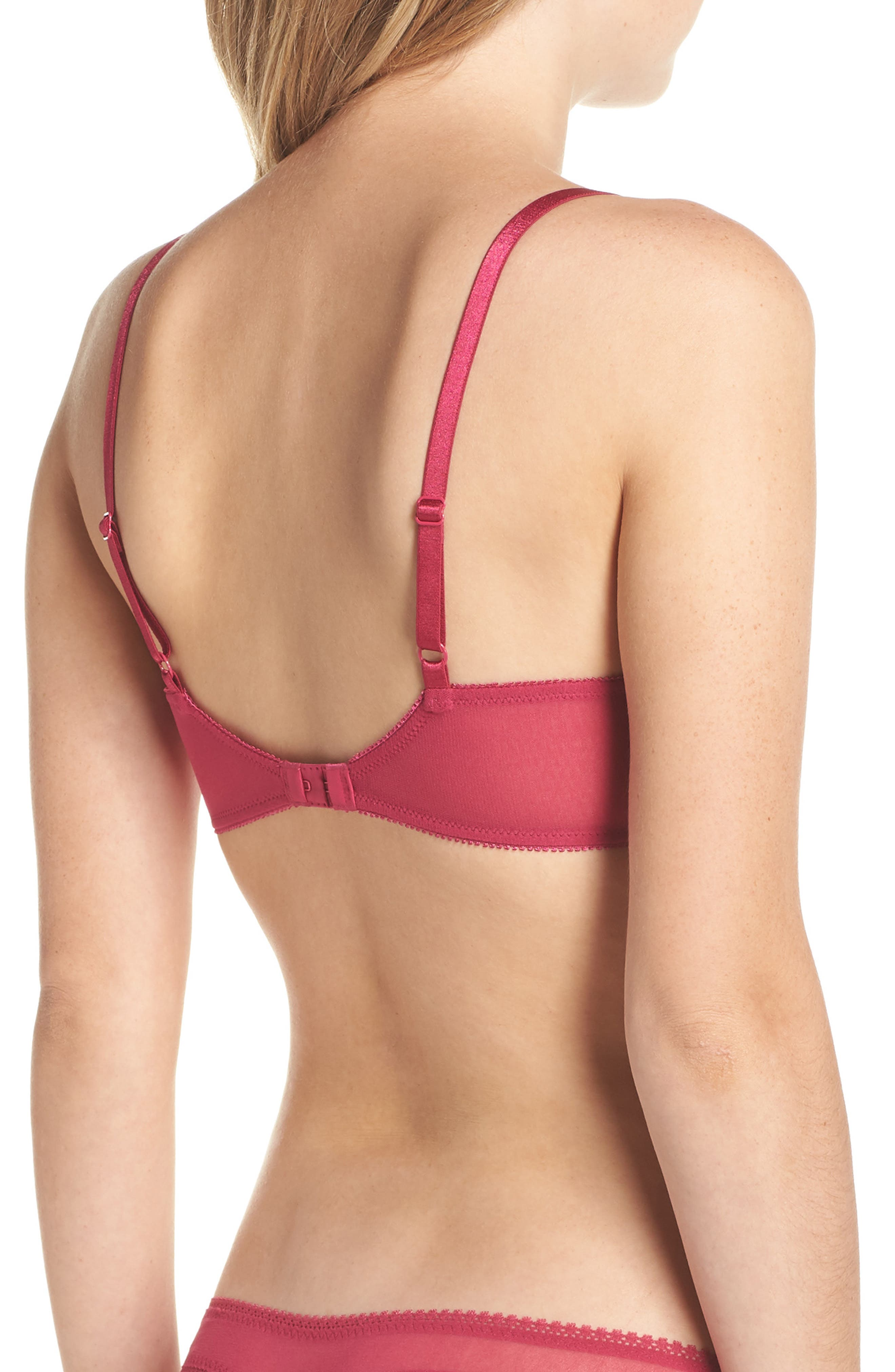 'Bump It Up' Underwire Push-Up Bra,                             Alternate thumbnail 2, color,                             RADIANT ORCHID