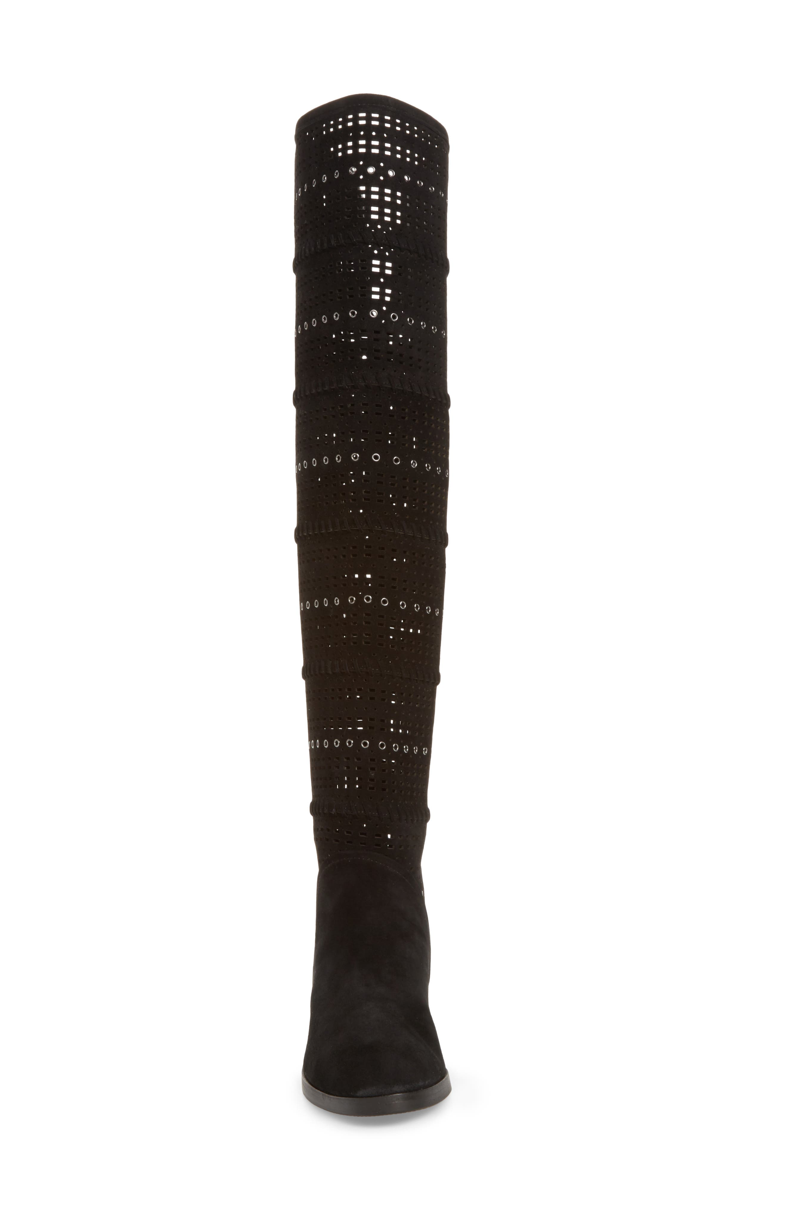 Devya Over the Knee Boot,                             Alternate thumbnail 4, color,                             001
