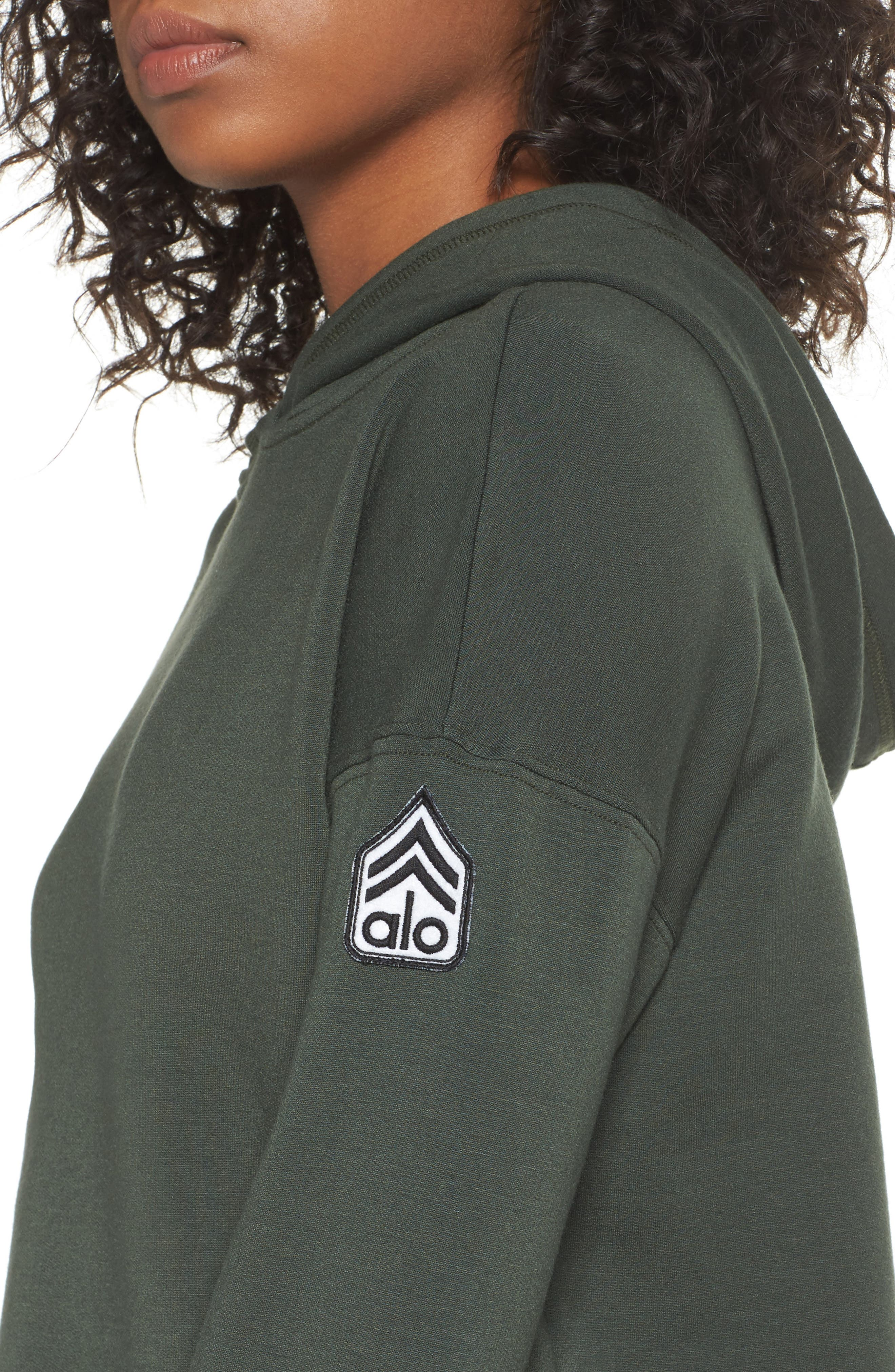 Screenprint French Terry Crop Hoodie,                             Alternate thumbnail 29, color,