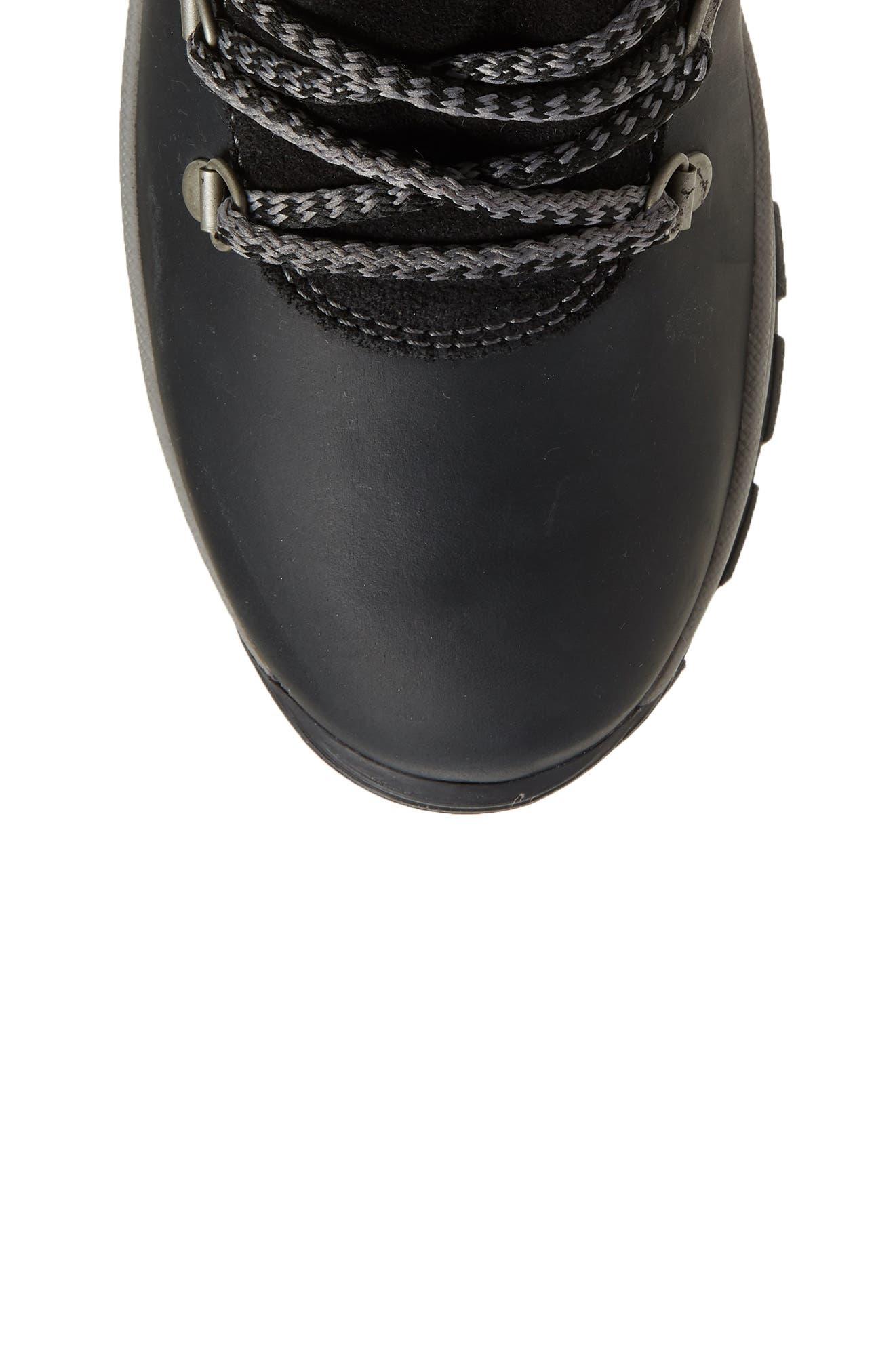 BOS. & CO.,                             Gabriella Waterproof Boot,                             Alternate thumbnail 5, color,                             BLACK/ DARK GREY CROMAGNON