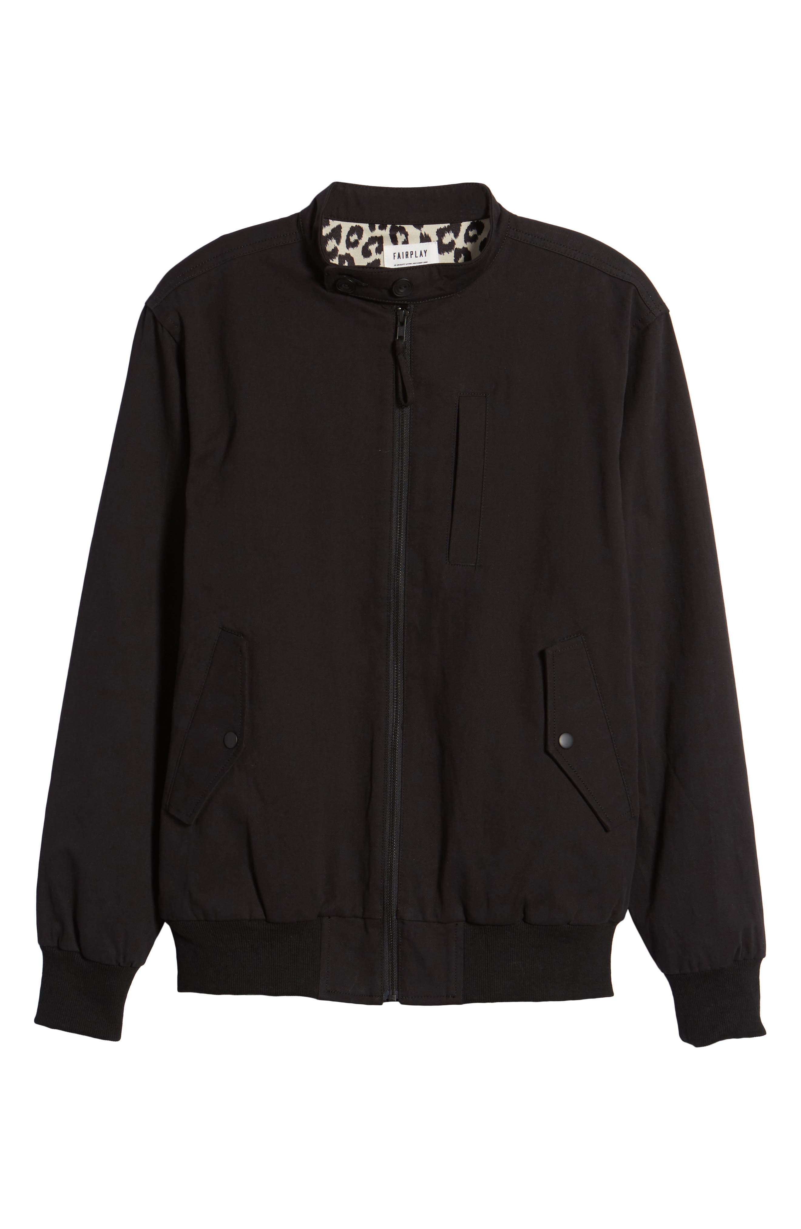 Dotson Twill Bomber Jacket,                             Alternate thumbnail 5, color,                             001
