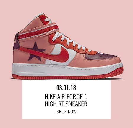 Nordstrom x Nike: new and hot Nike Air Force 1 High RT Sneaker.