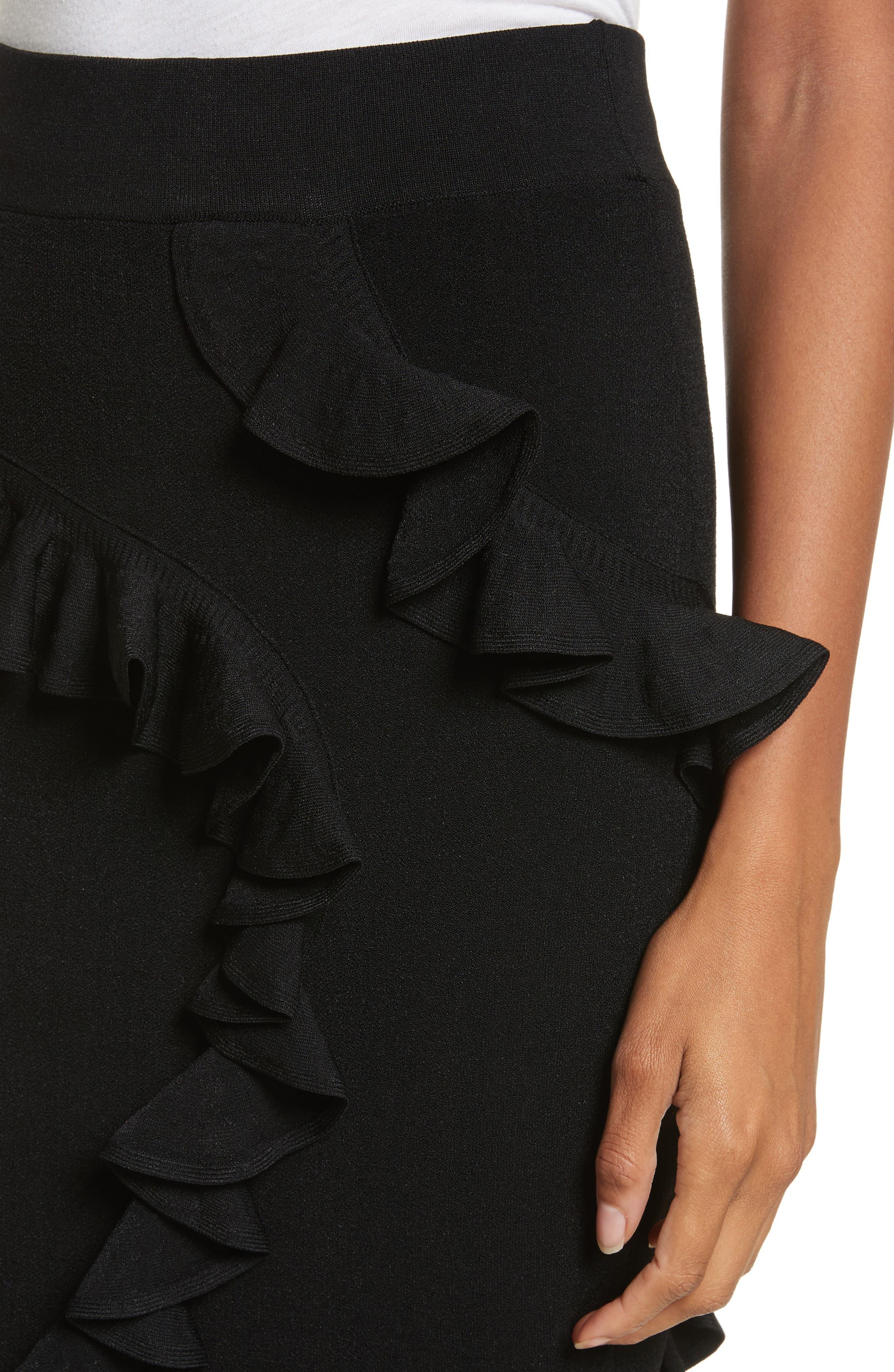 Abstract Ruffle Skirt,                             Alternate thumbnail 4, color,                             001