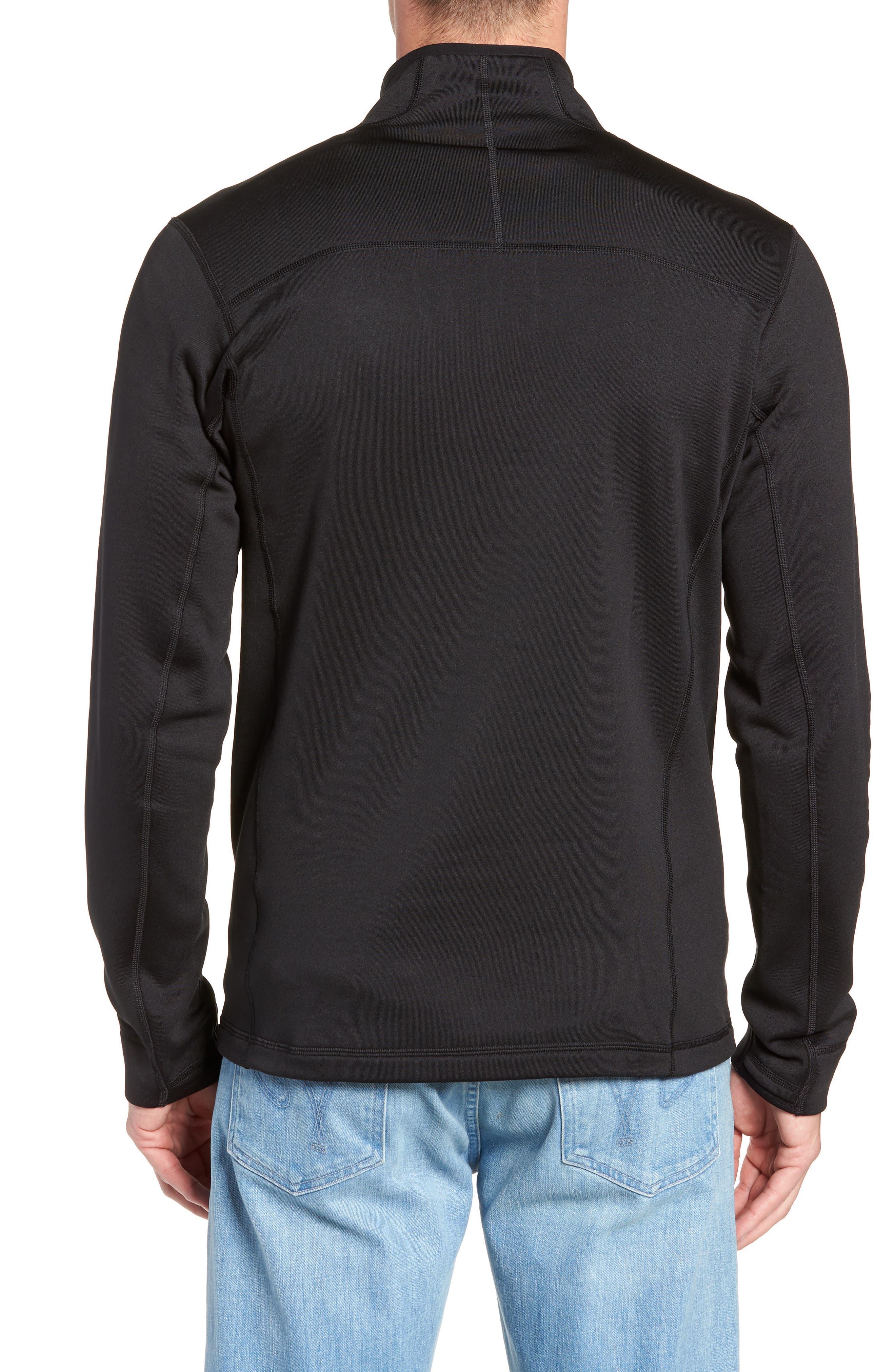 Crosstrek Quarter Zip Fleece Pullover,                             Alternate thumbnail 2, color,                             BLACK