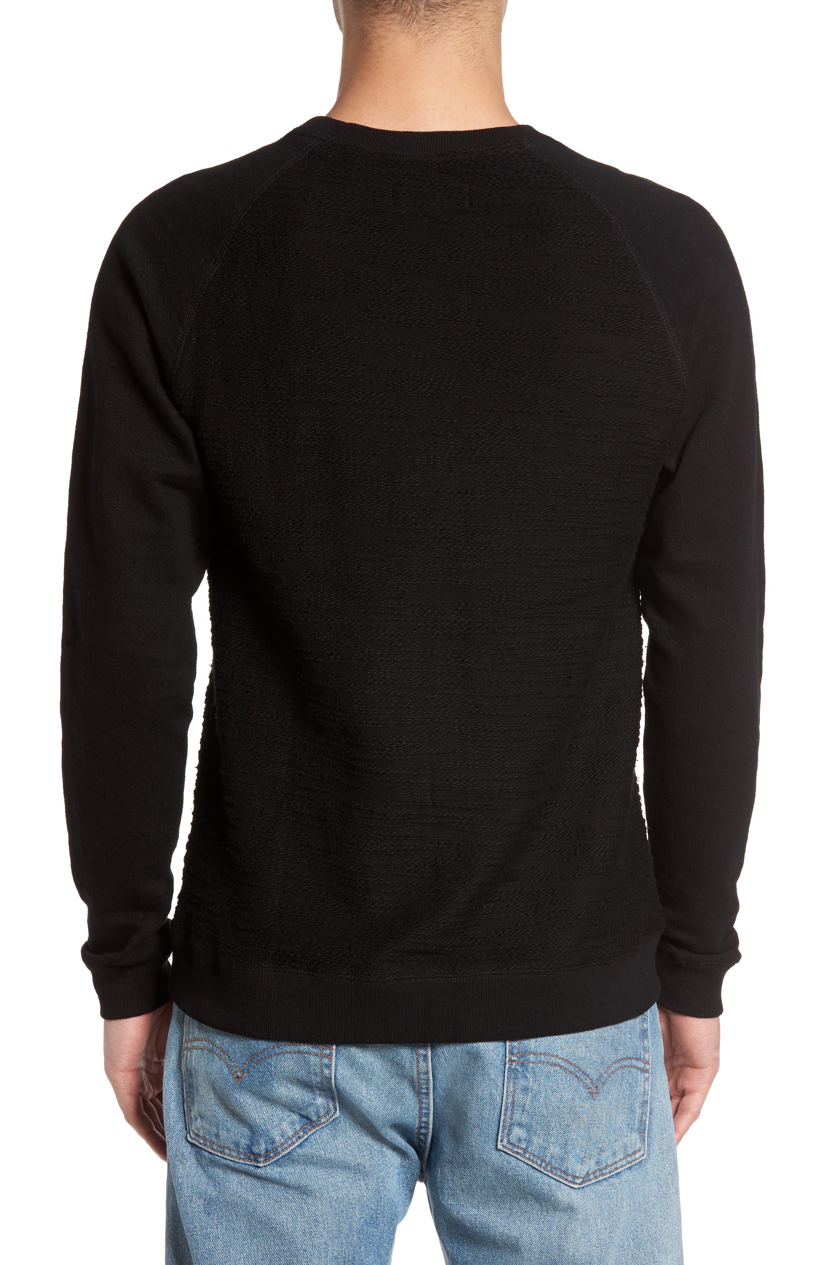 Frey Slubbed Pocket Sweatshirt,                             Alternate thumbnail 2, color,                             001