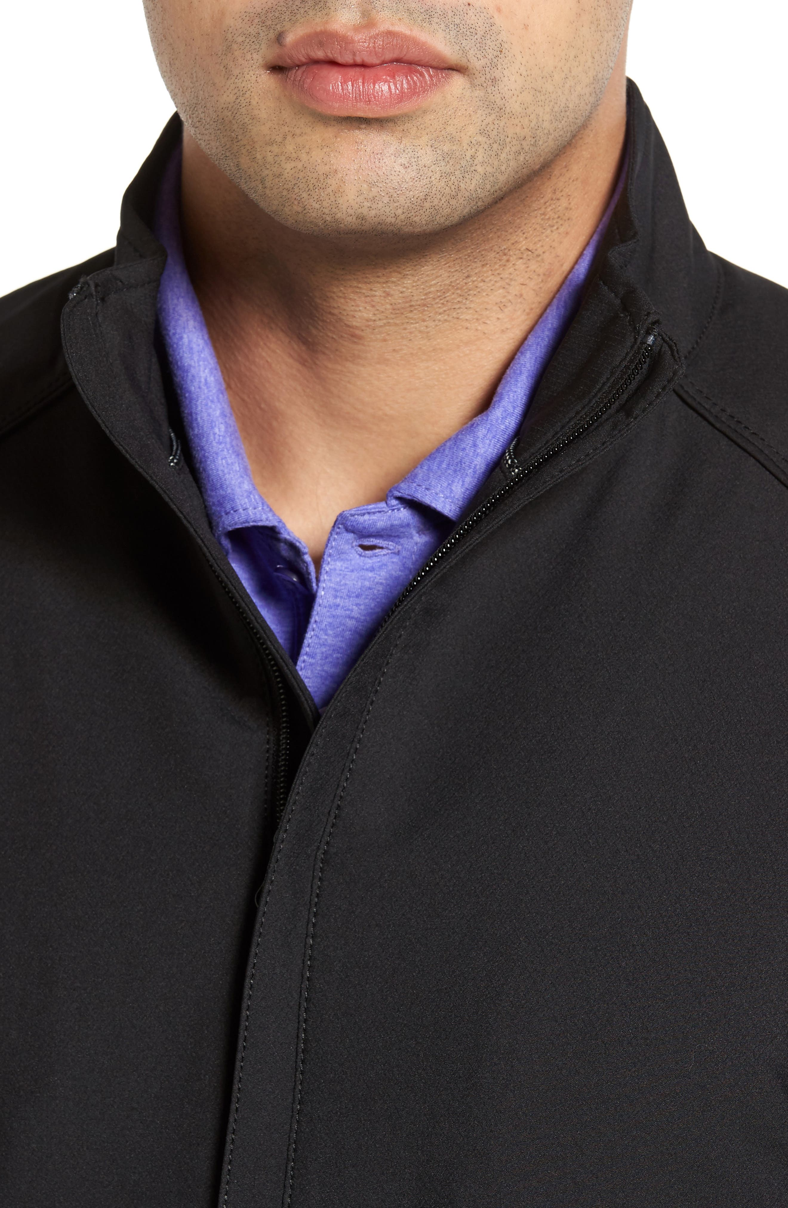 'Blakely' WeatherTec<sup>®</sup> Wind & Water Resistant Full Zip Jacket,                             Alternate thumbnail 5, color,                             BLACK