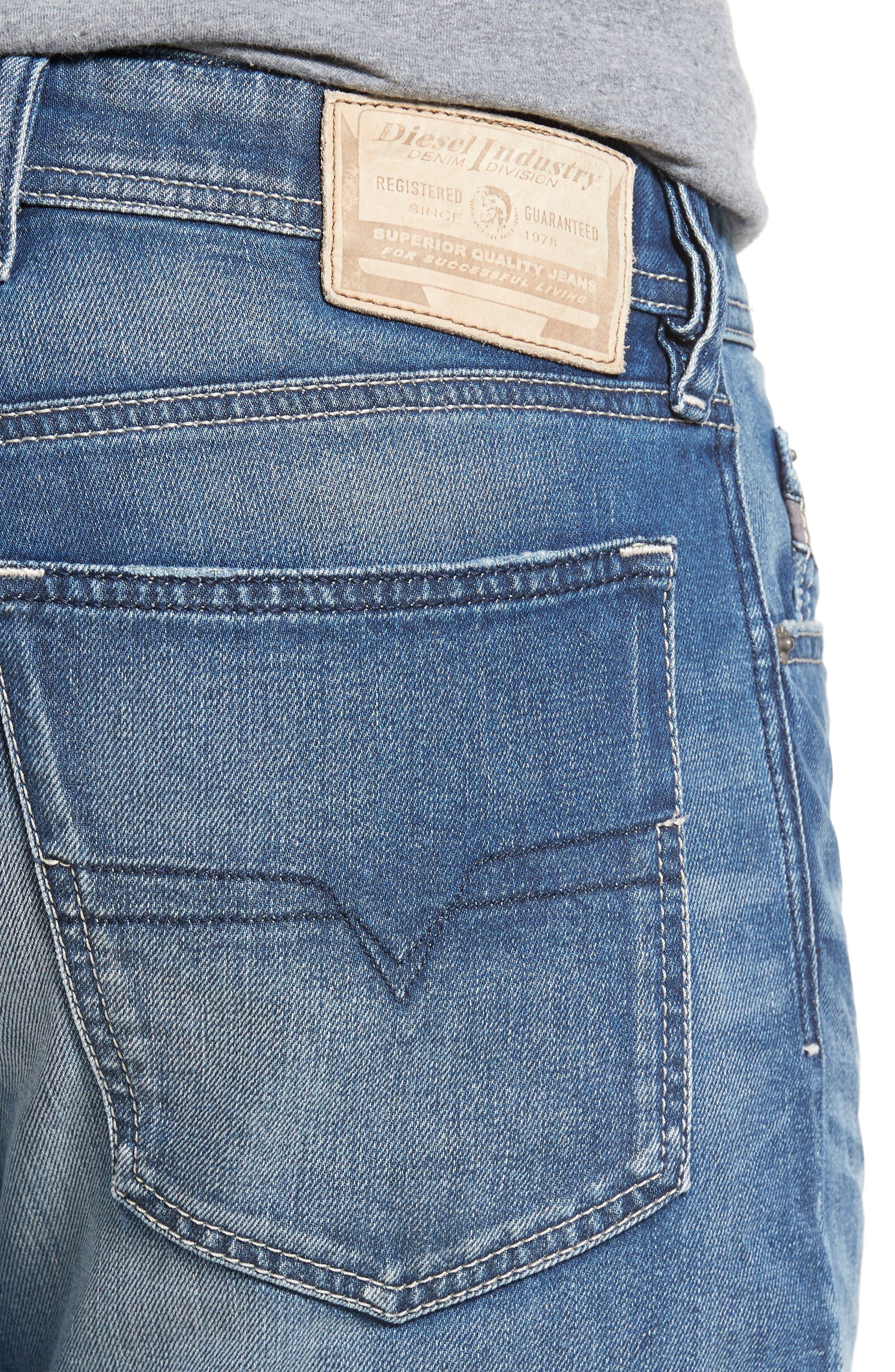 Waykee Straight Leg Jeans,                             Alternate thumbnail 4, color,                             400