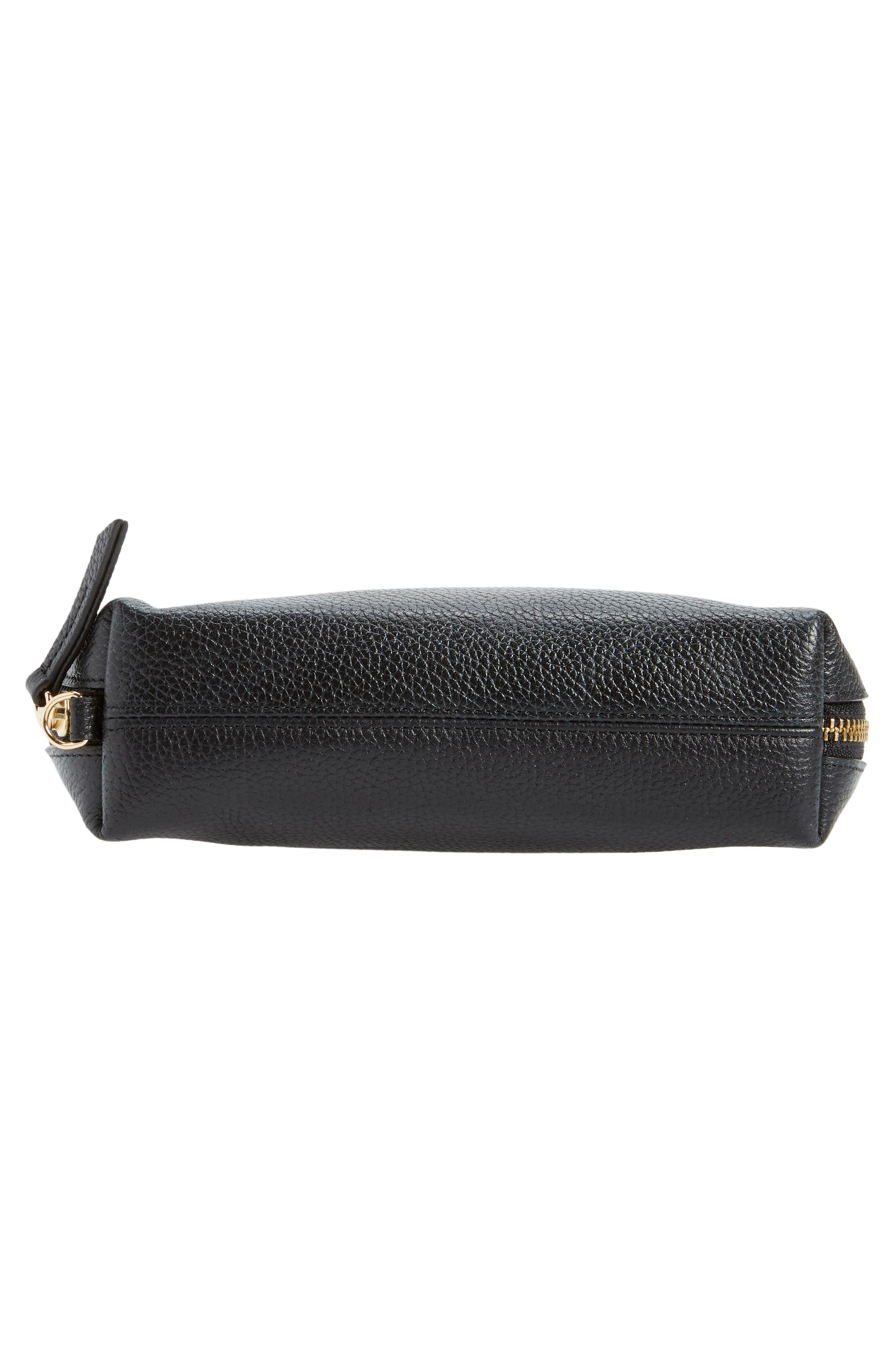 Sophia Leather Wristlet,                             Alternate thumbnail 6, color,                             001