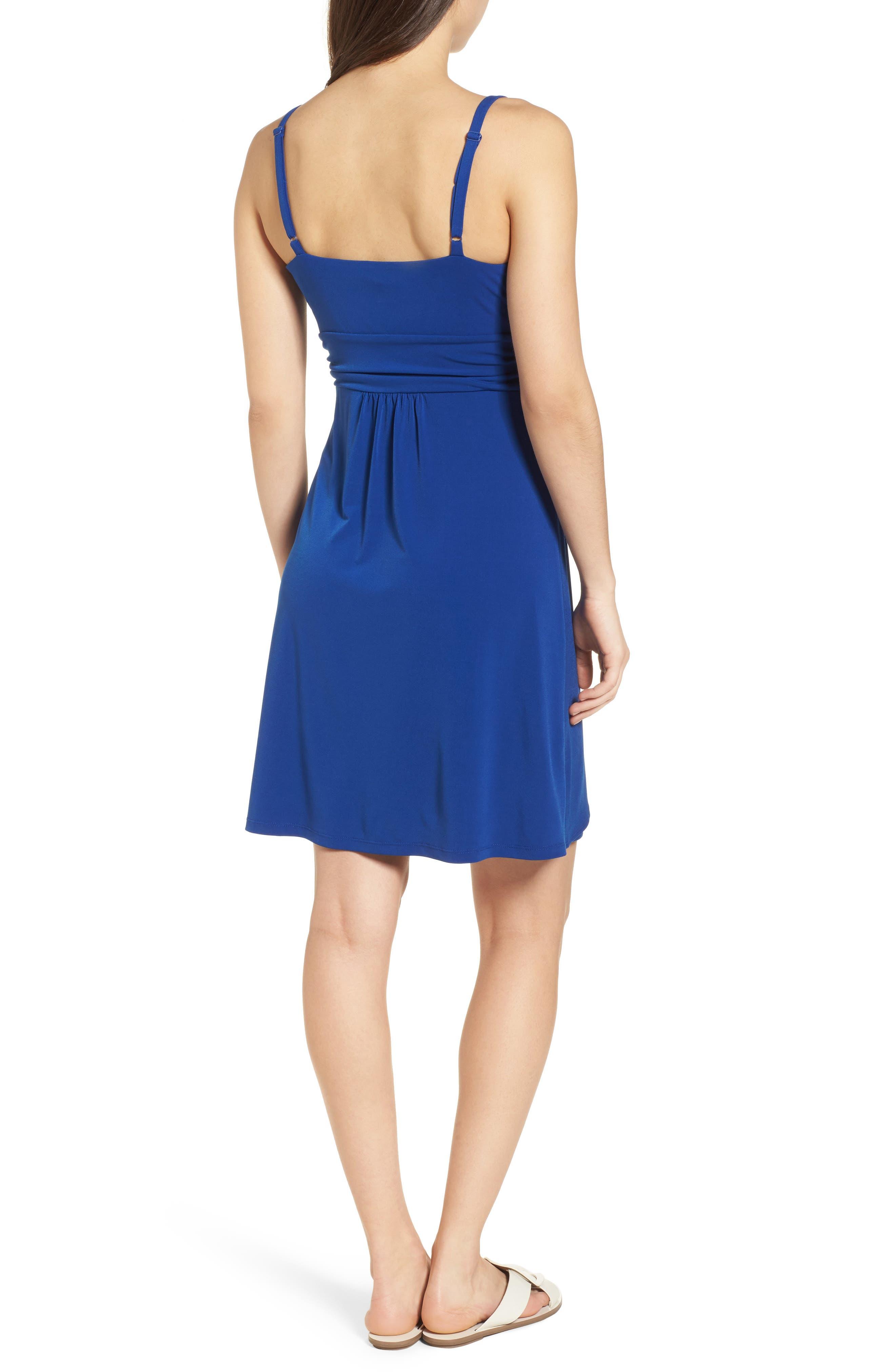 Elenna Stretch Jersey Sundress,                             Alternate thumbnail 2, color,                             DARK BLUE