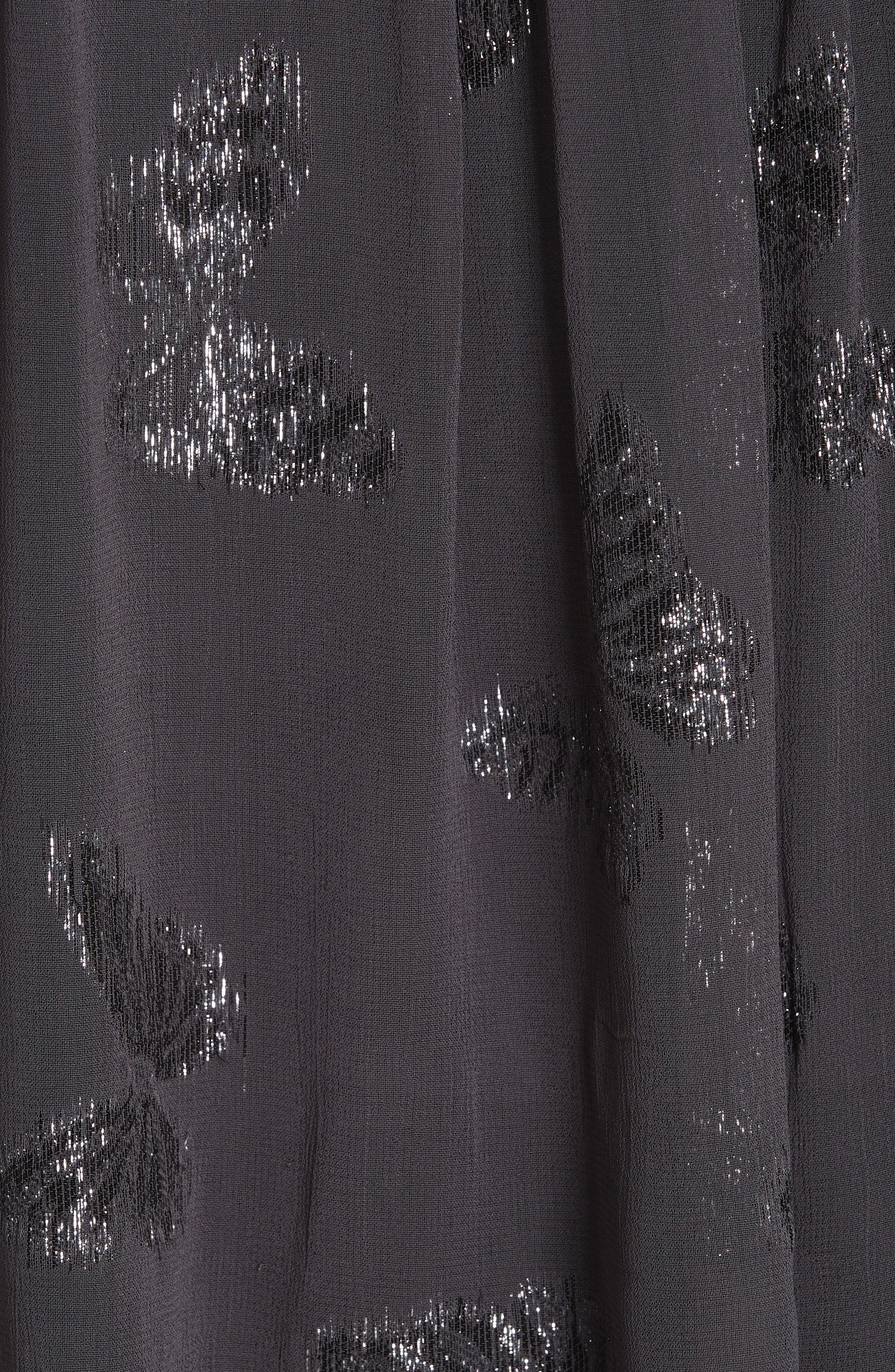 Metallic Butterfly Top,                             Alternate thumbnail 5, color,                             GRAPHITE