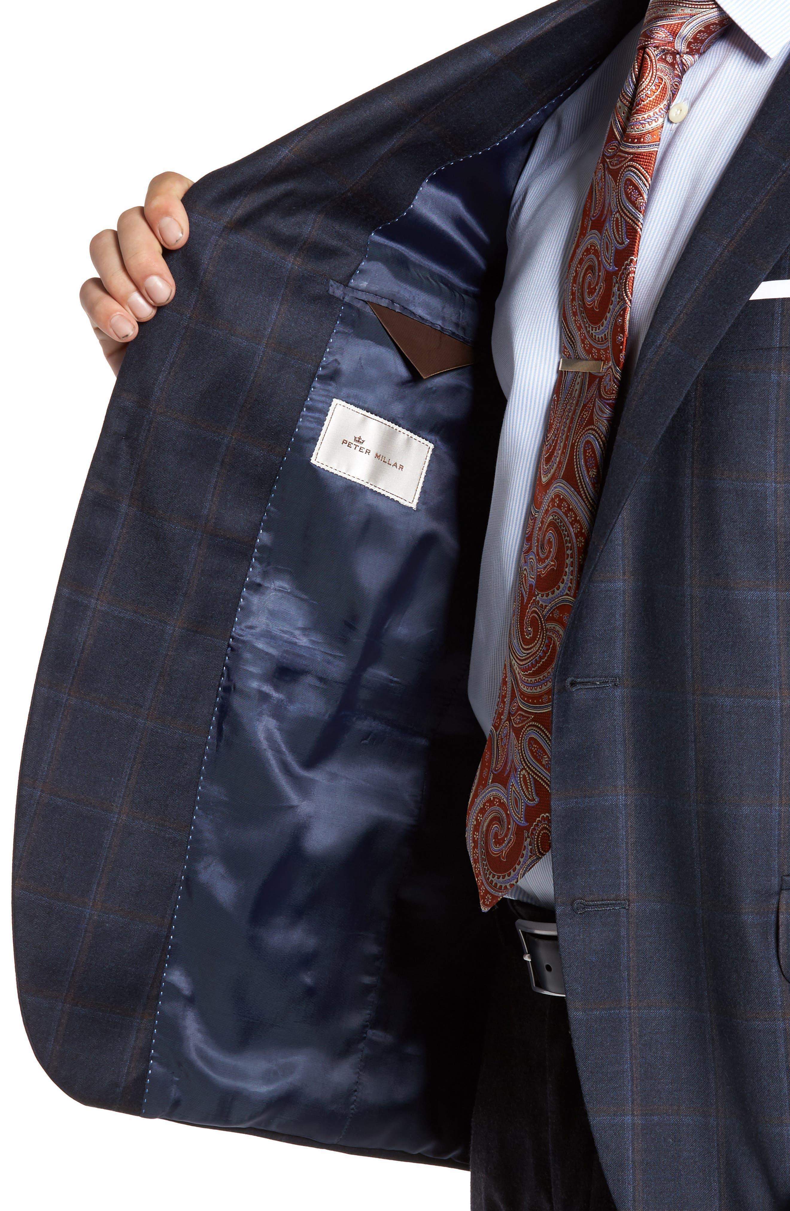 Flynn Classic Fit Plaid Wool & Cashmere Sport Coat,                             Alternate thumbnail 4, color,                             410