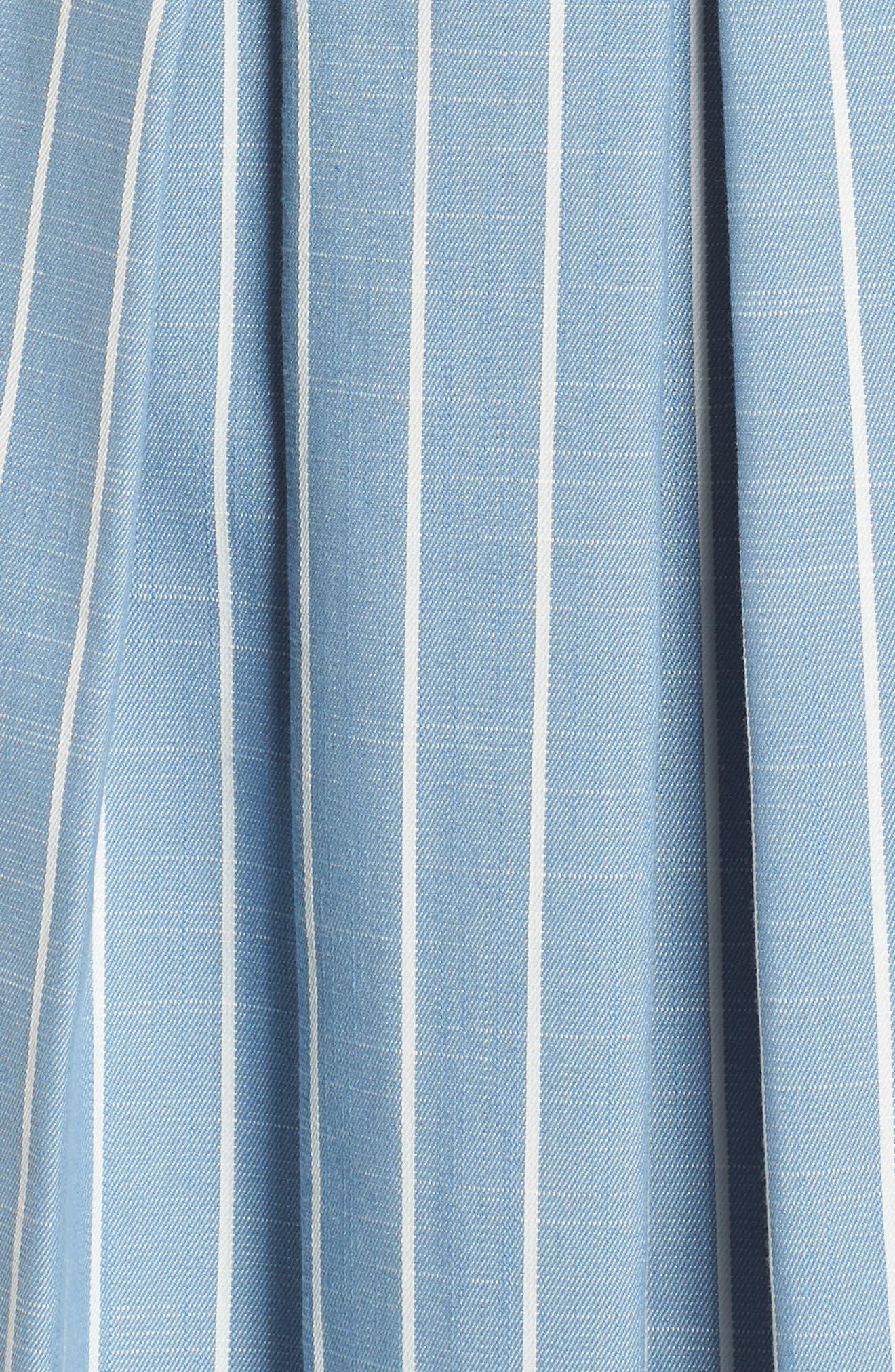 Samantha Slub Stripe Fit & Flare Dress,                             Alternate thumbnail 7, color,                             460