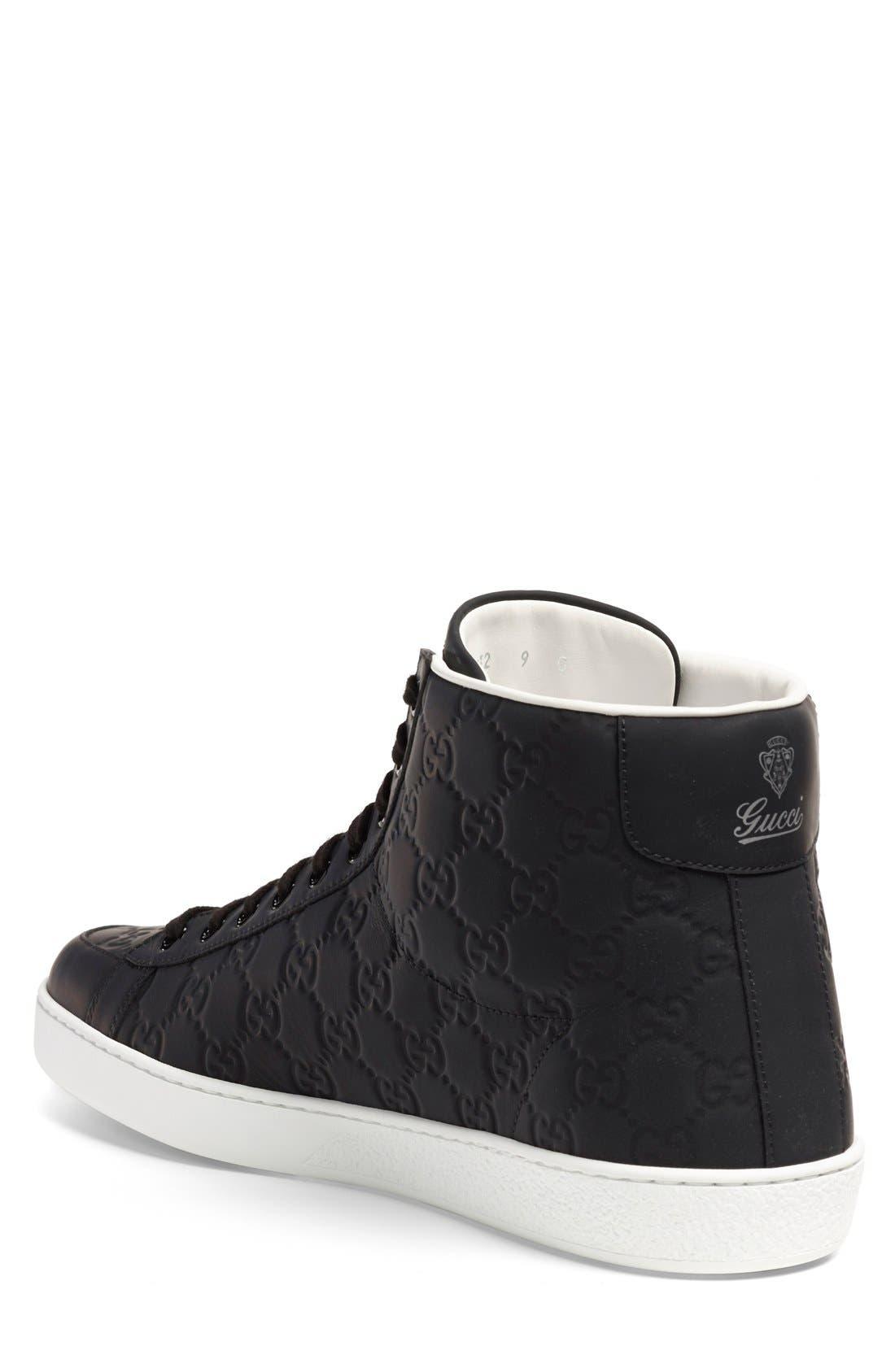 'Brooklyn' High-Top Sneaker,                             Alternate thumbnail 4, color,                             001