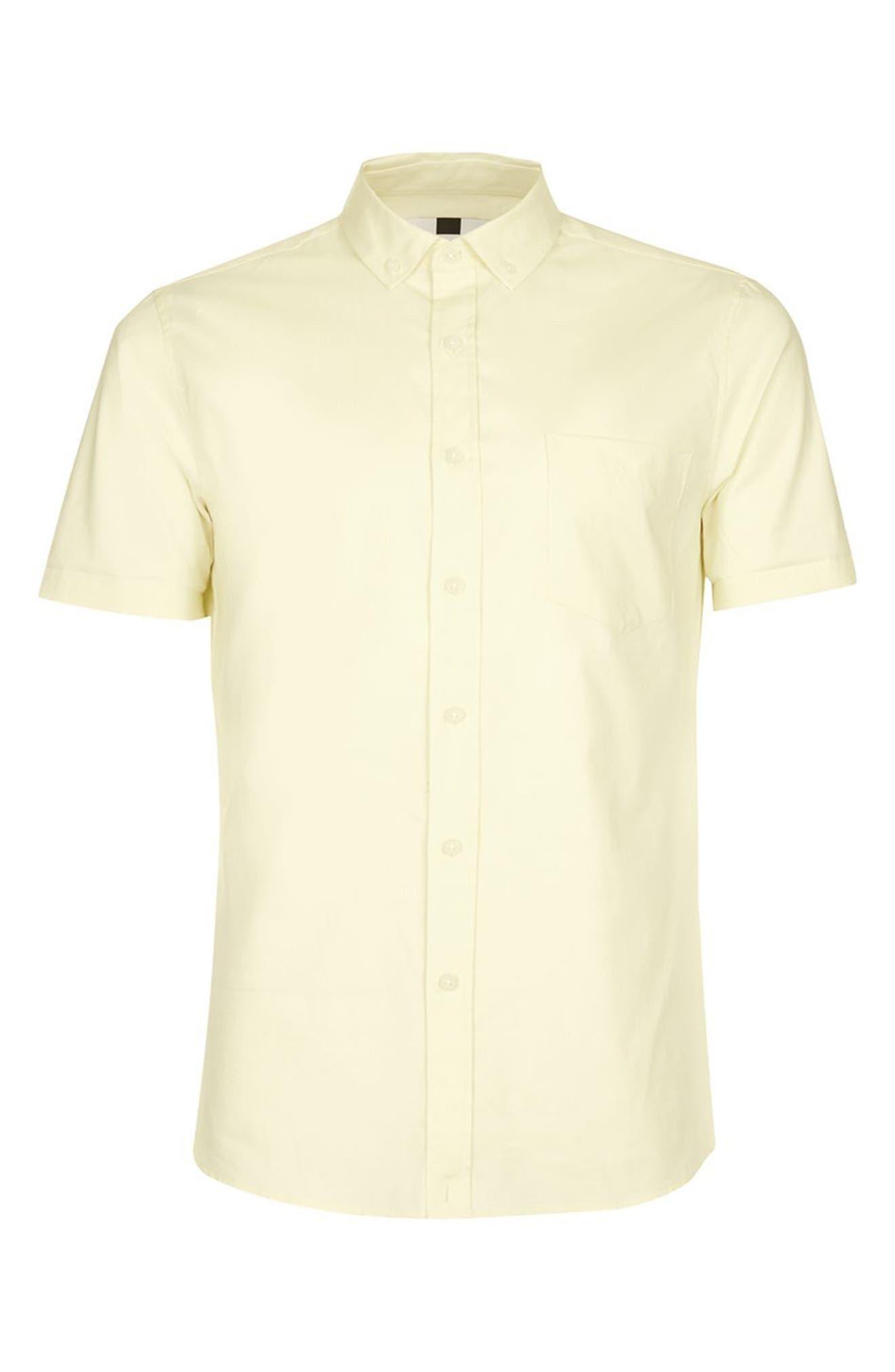 Slim Fit Stretch Oxford Shirt,                             Alternate thumbnail 8, color,
