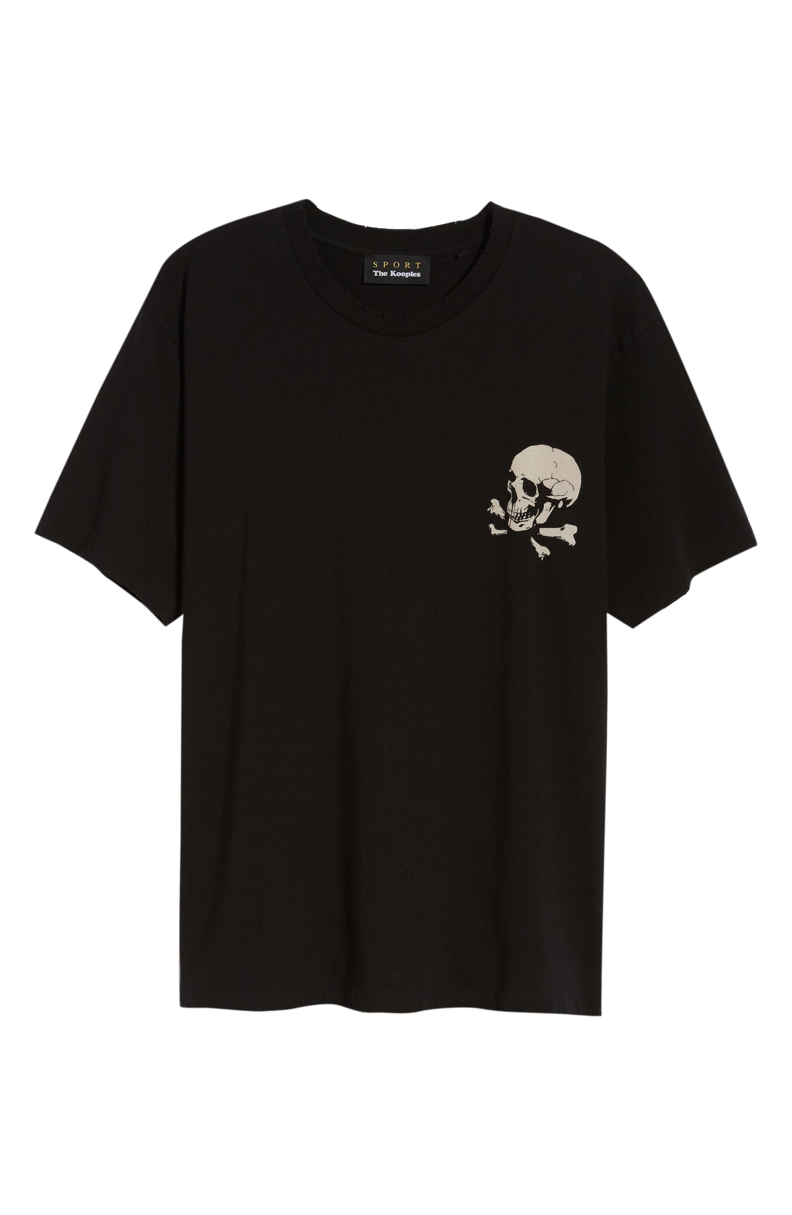 Regular Fit Skullhead Graphic T-Shirt,                             Alternate thumbnail 6, color,                             001