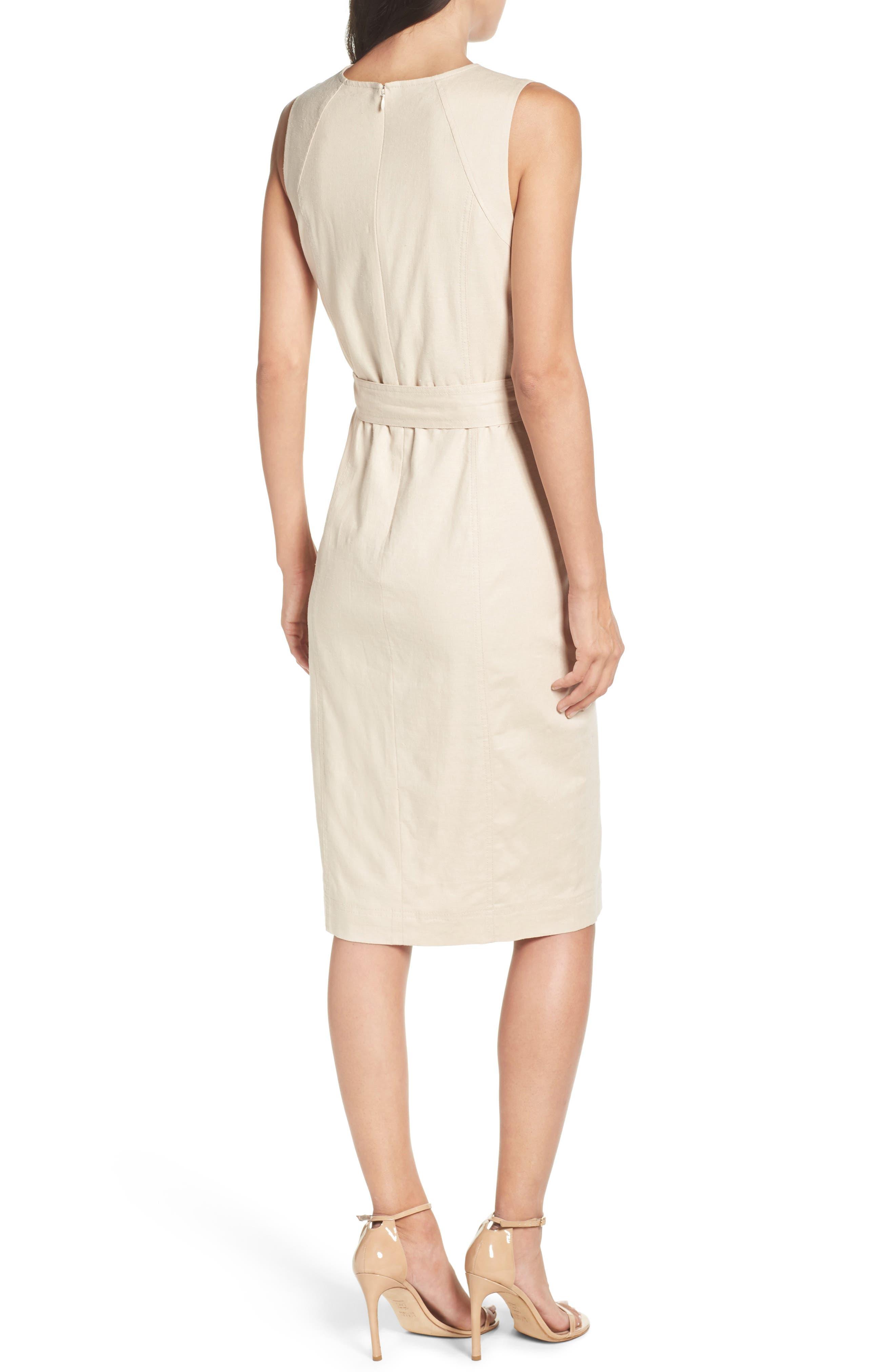 Belted Sheath Dress,                             Alternate thumbnail 2, color,                             253