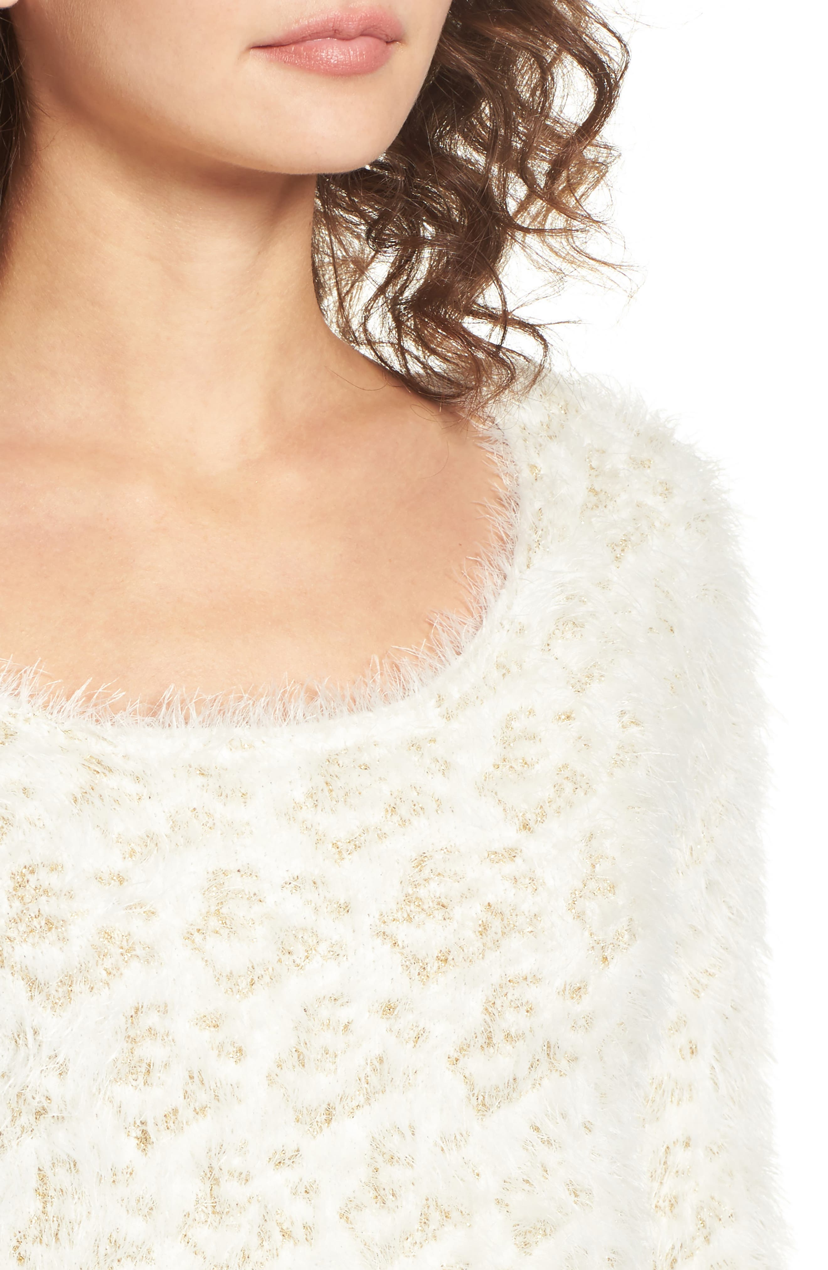 Cassidy Fuzzy Eyelash Sweater,                             Alternate thumbnail 4, color,                             710