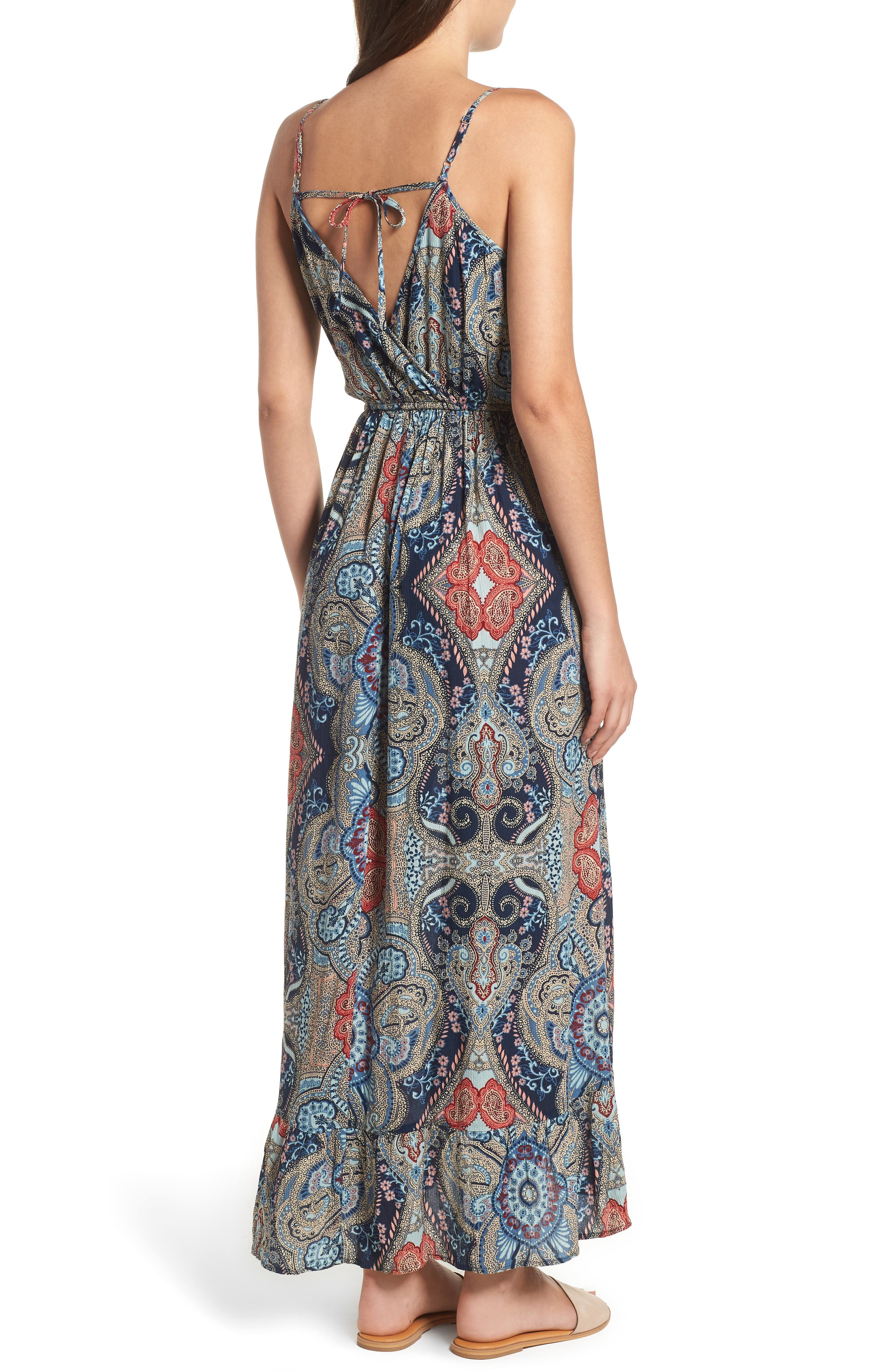 Kenzie Faux Wrap Dress,                             Alternate thumbnail 2, color,                             459