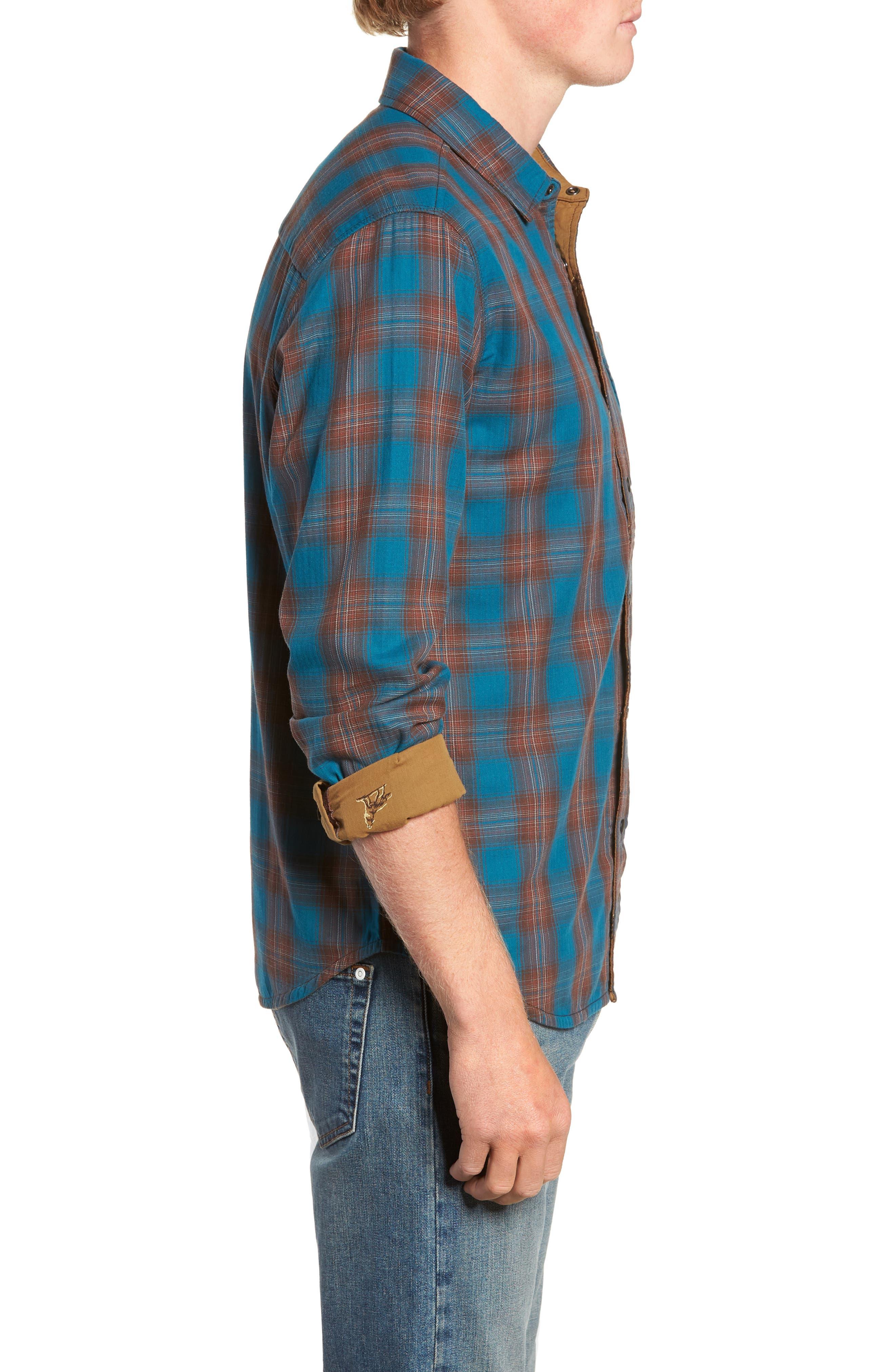 Howler Regular Fit Reversible Sport Shirt,                             Alternate thumbnail 5, color,                             LEGION BLUE HEATHER