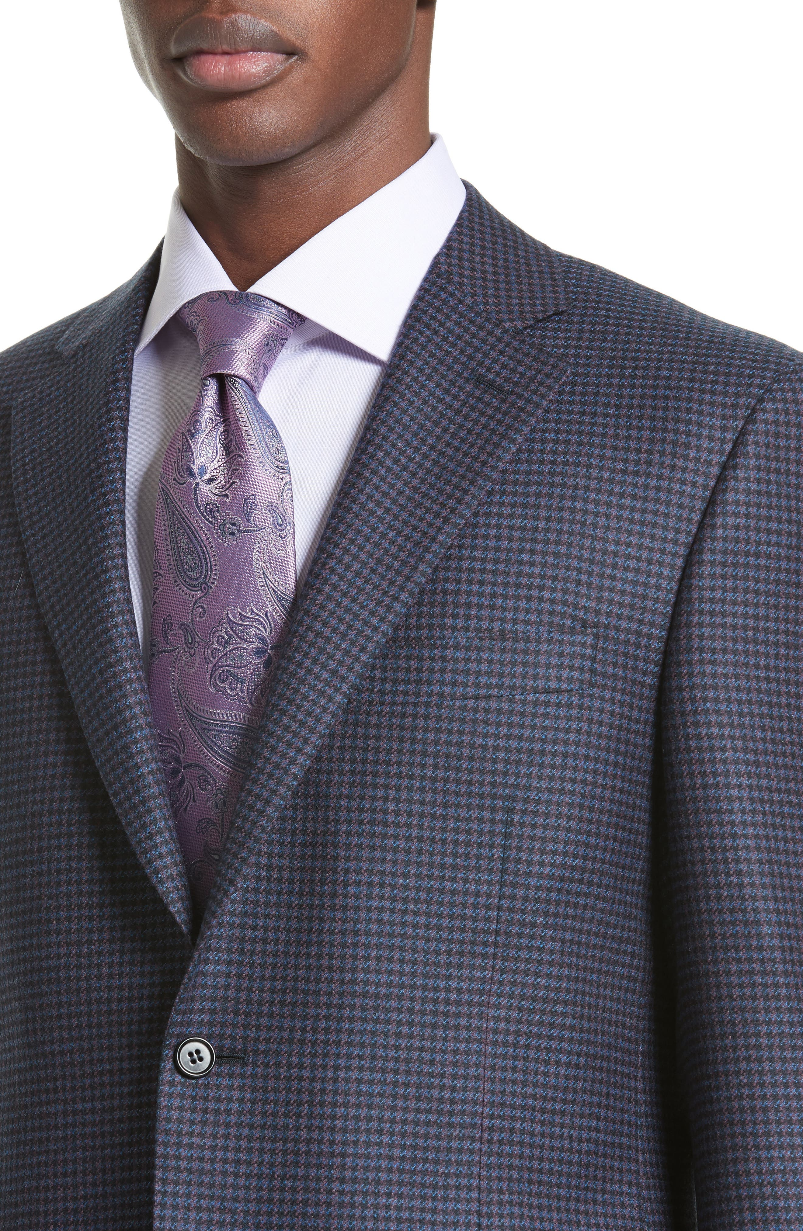 Classic Fit Houndstooth Wool Sport Coat,                             Alternate thumbnail 4, color,                             400