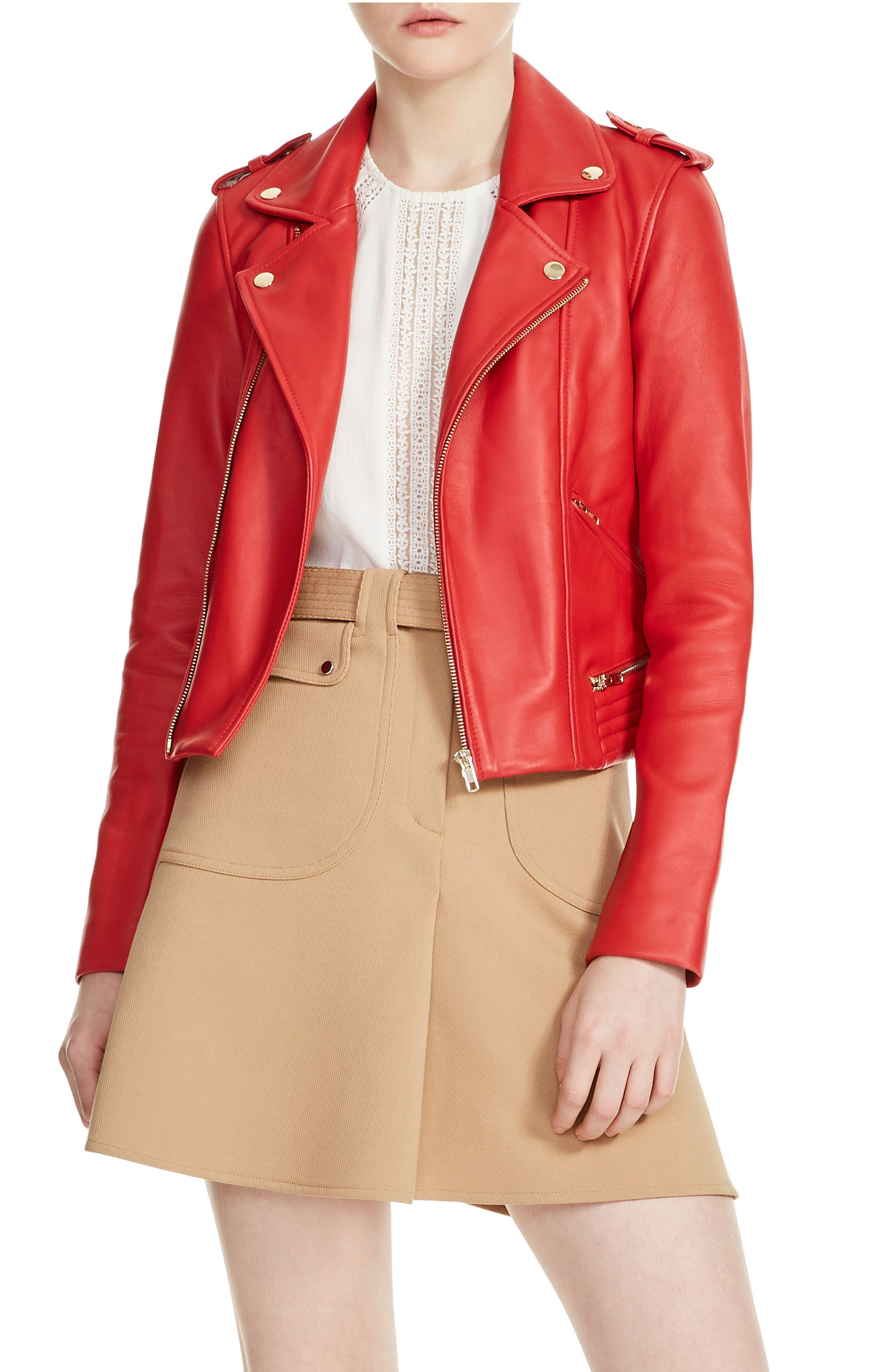 Basalt Leather Moto Jacket, Main, color, 600