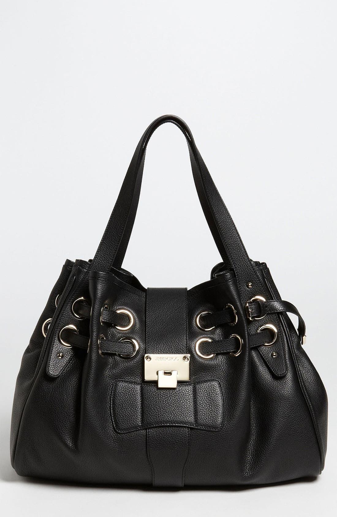 'Ramona' Leather Shopper, Main, color, 001