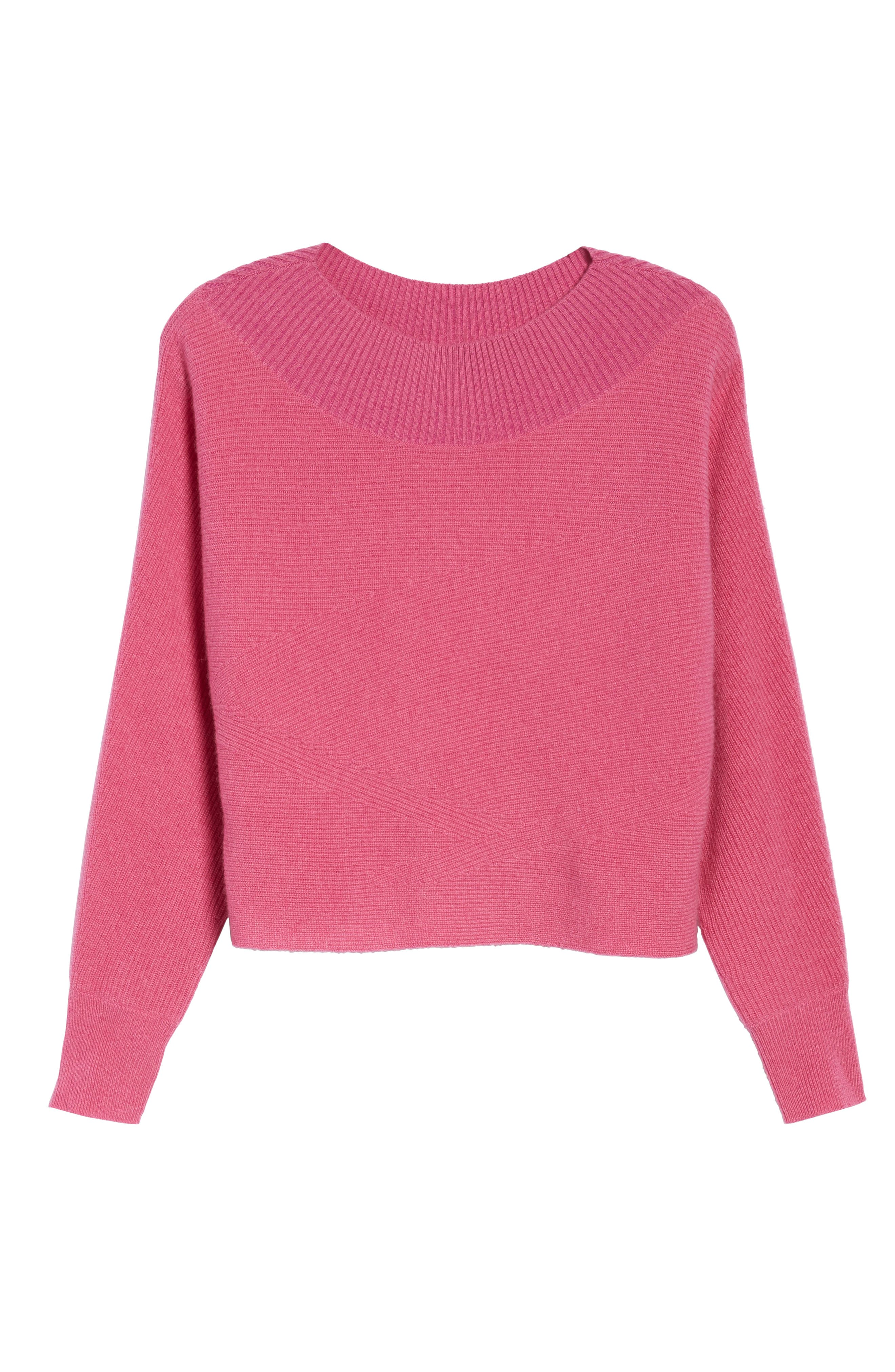 Dolman Sleeve Cashmere Sweater,                             Alternate thumbnail 12, color,